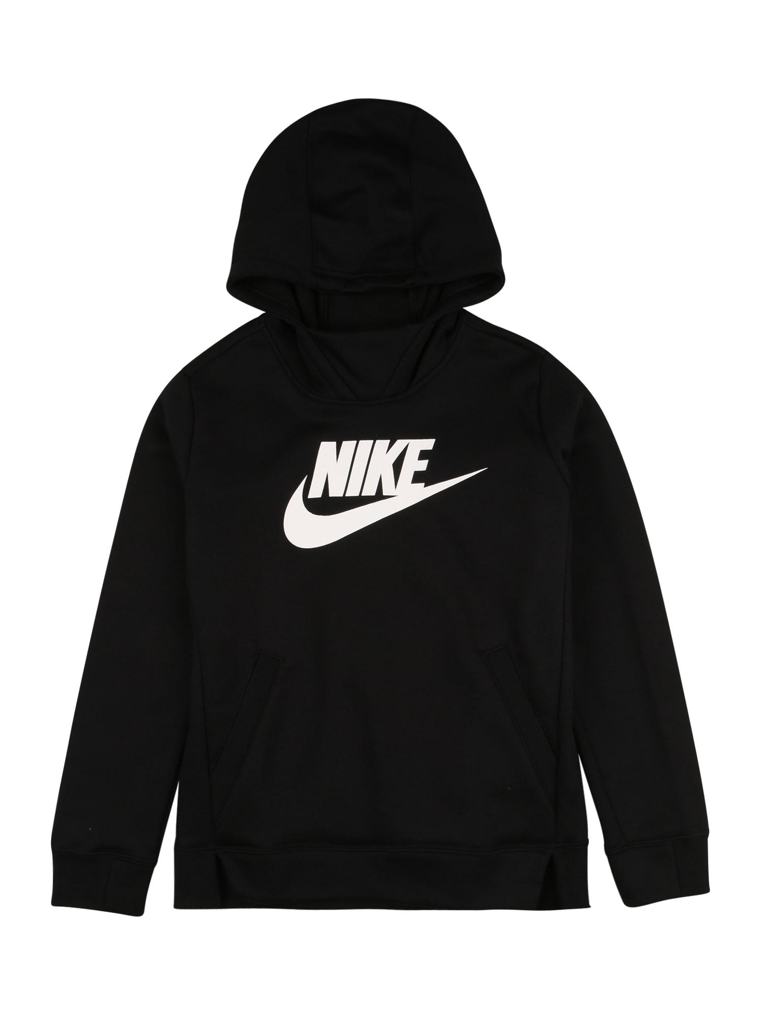 Nike Sportswear Megztinis be užsegimo balta / juoda