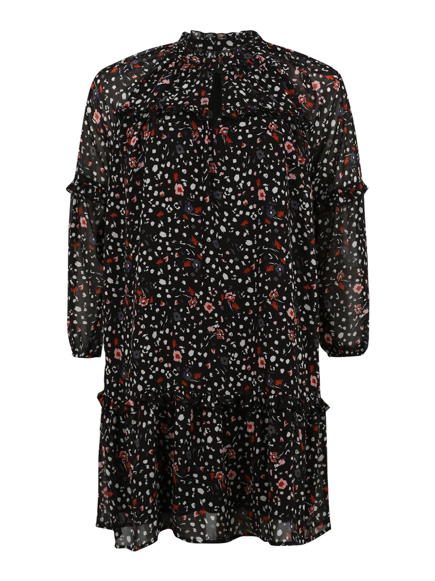 Vero Moda Curve Suknelė juoda / mišrios spalvos