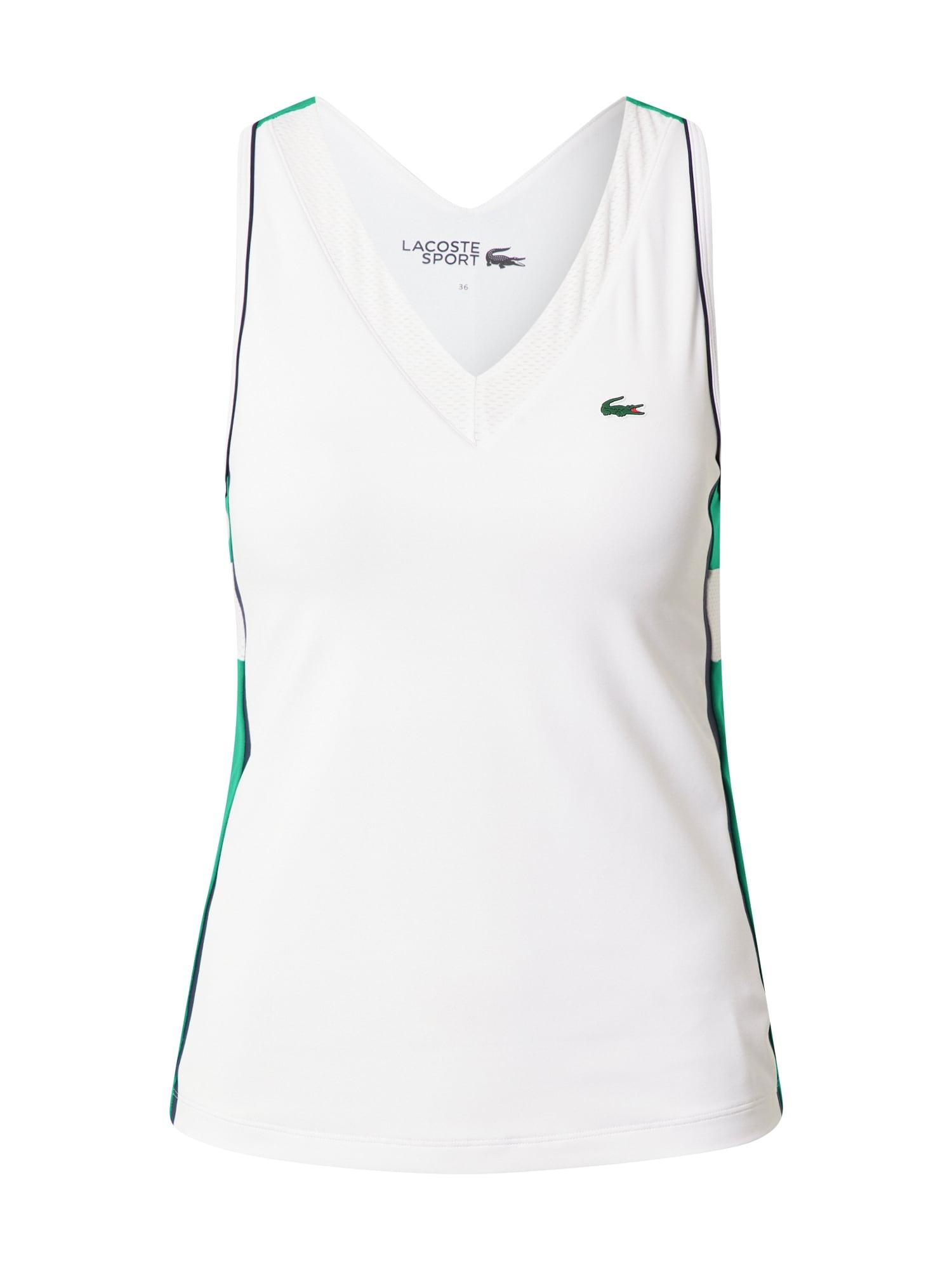 Lacoste Sport Palaidinė be rankovių žalia / balta