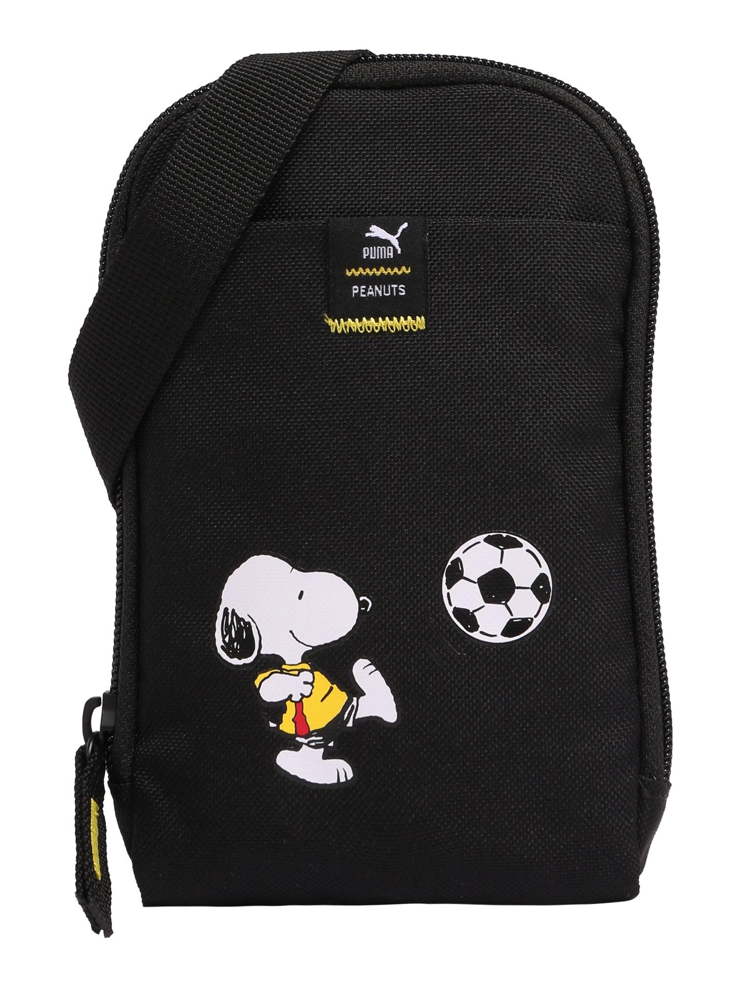 PUMA Krepšys juoda / balta / melionų spalva / geltona