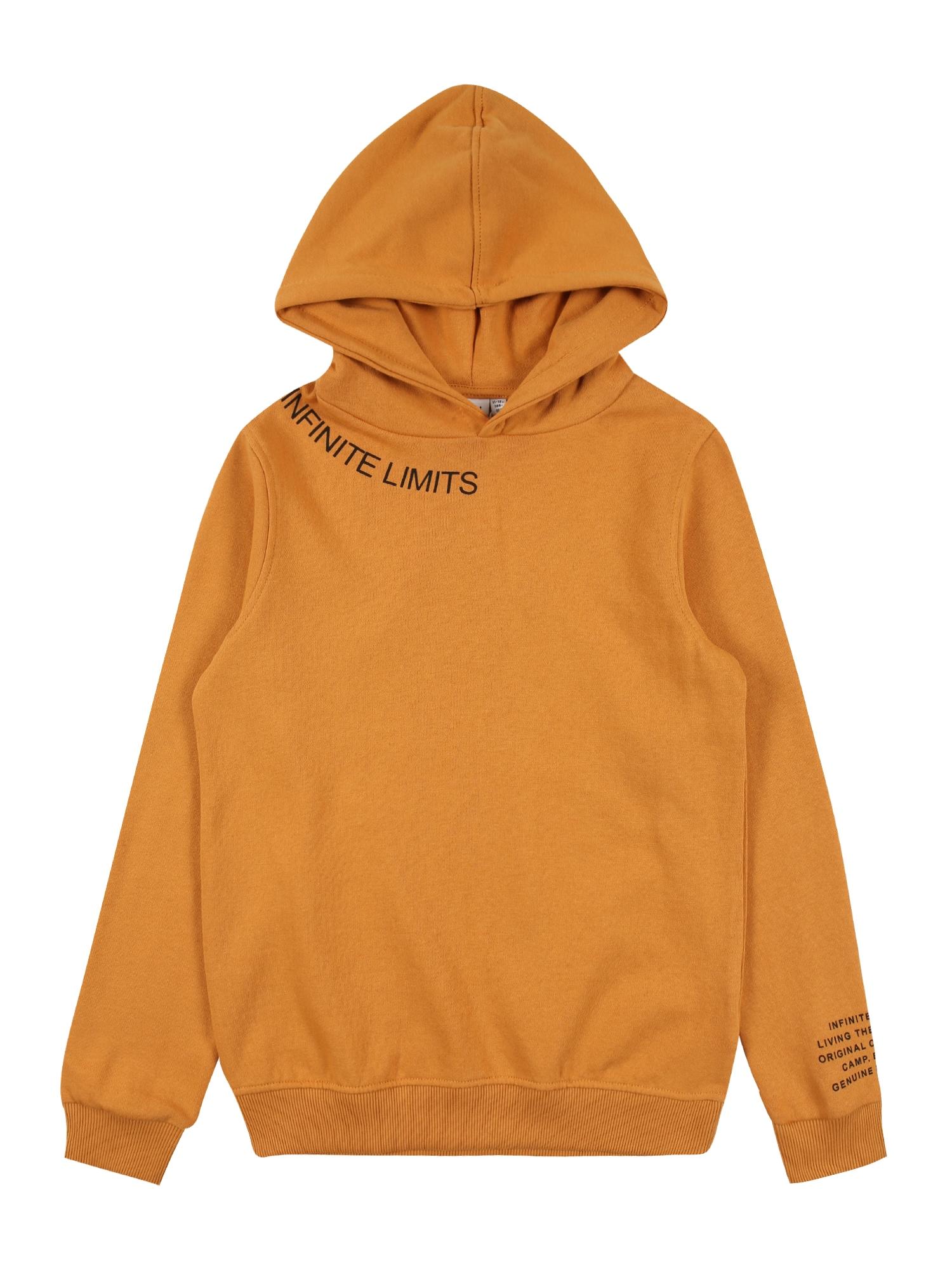 NAME IT Megztinis tamsiai geltona / juoda