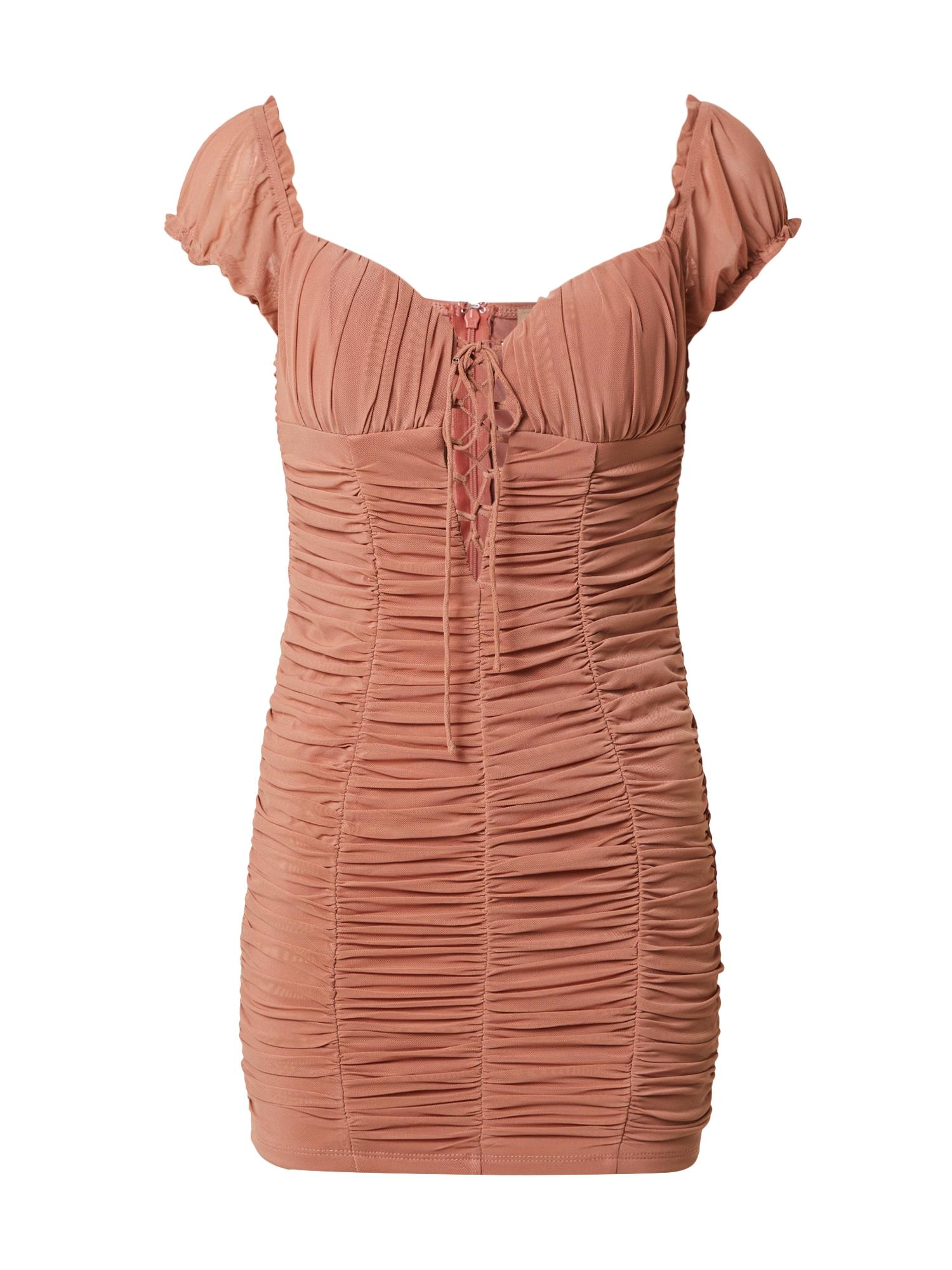 Love Triangle Suknelė ryškiai rožinė spalva