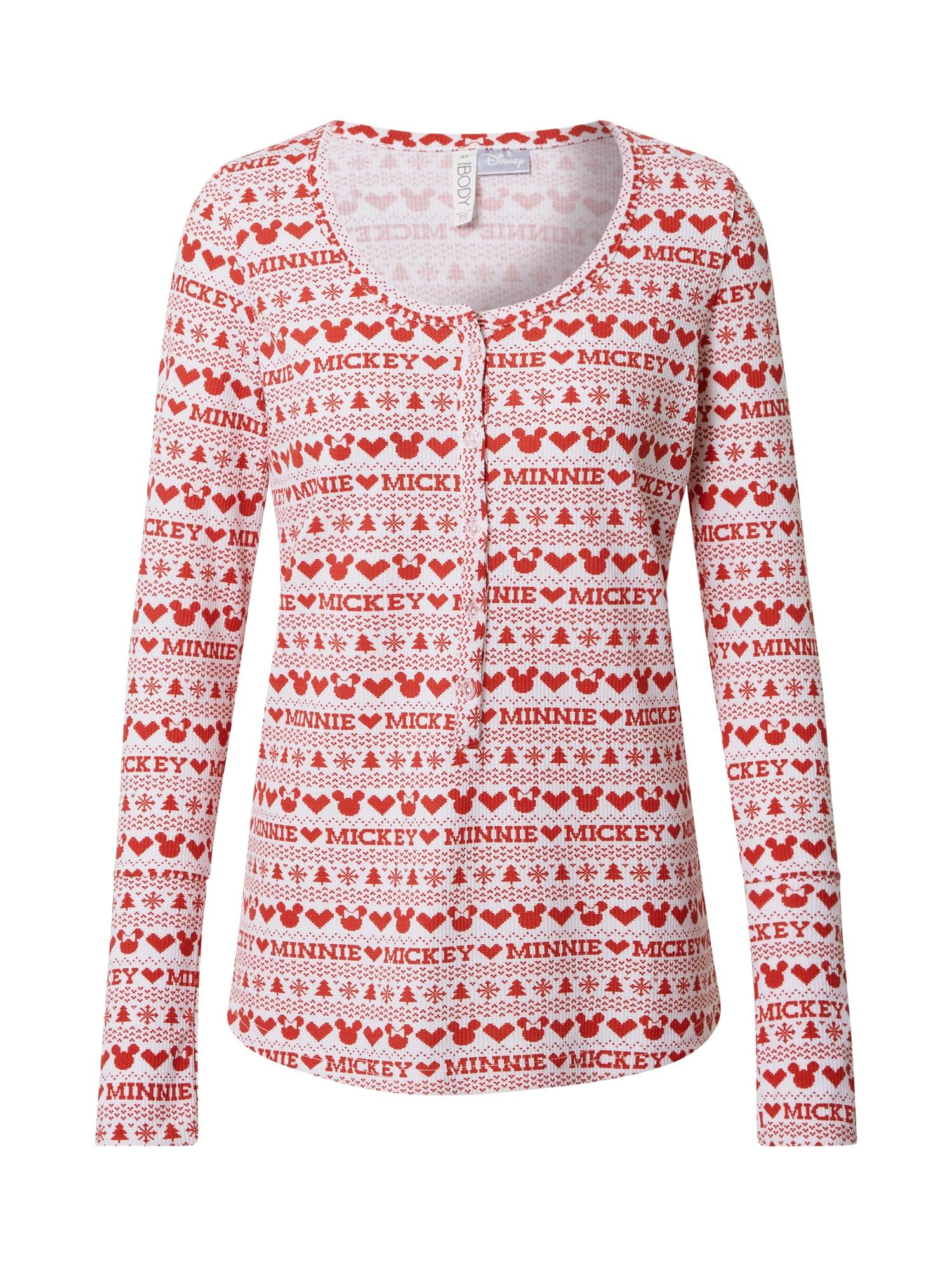 Cotton On Pižaminiai marškinėliai raudona / balta