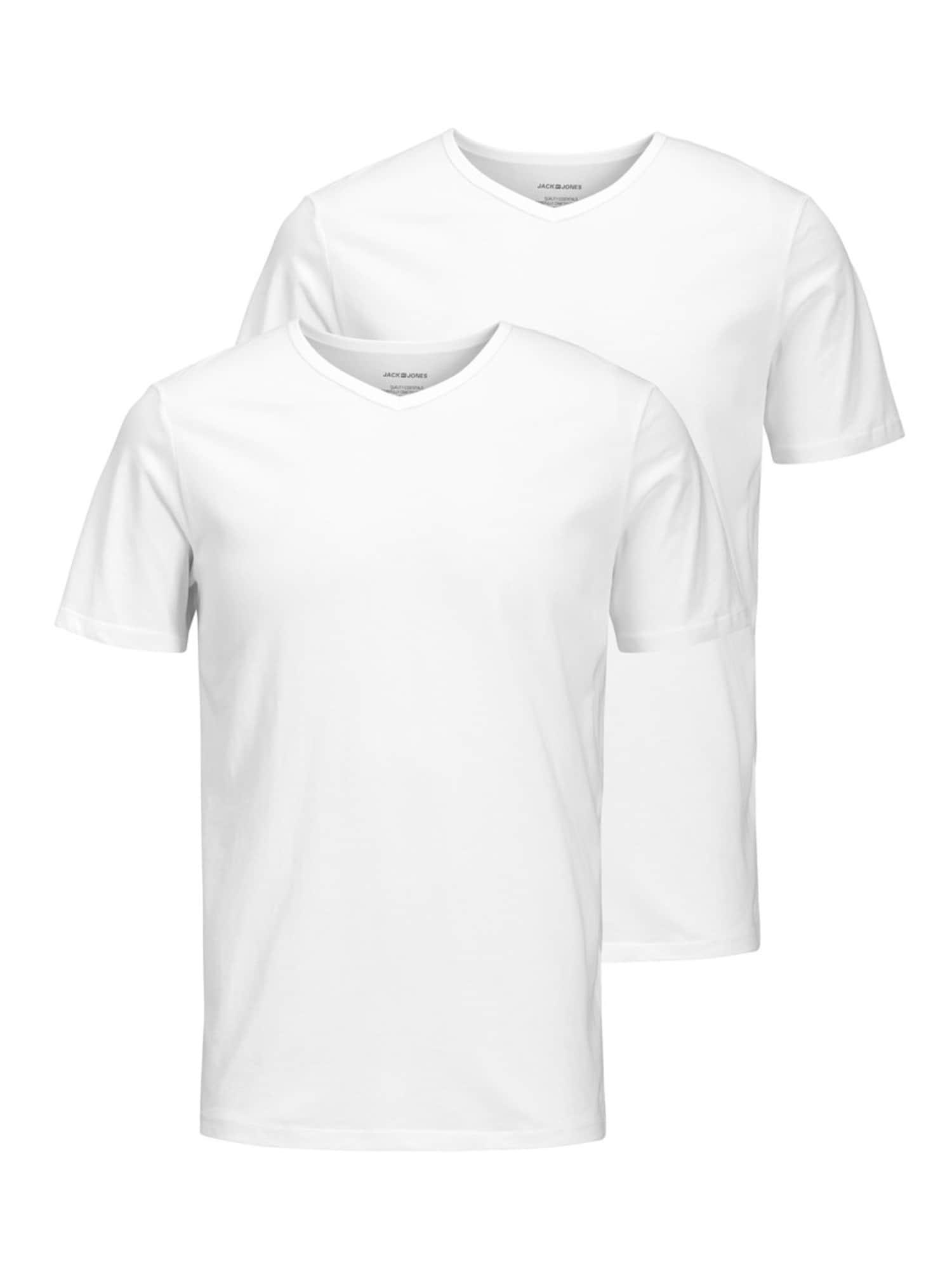 JACK & JONES Marškinėliai balta