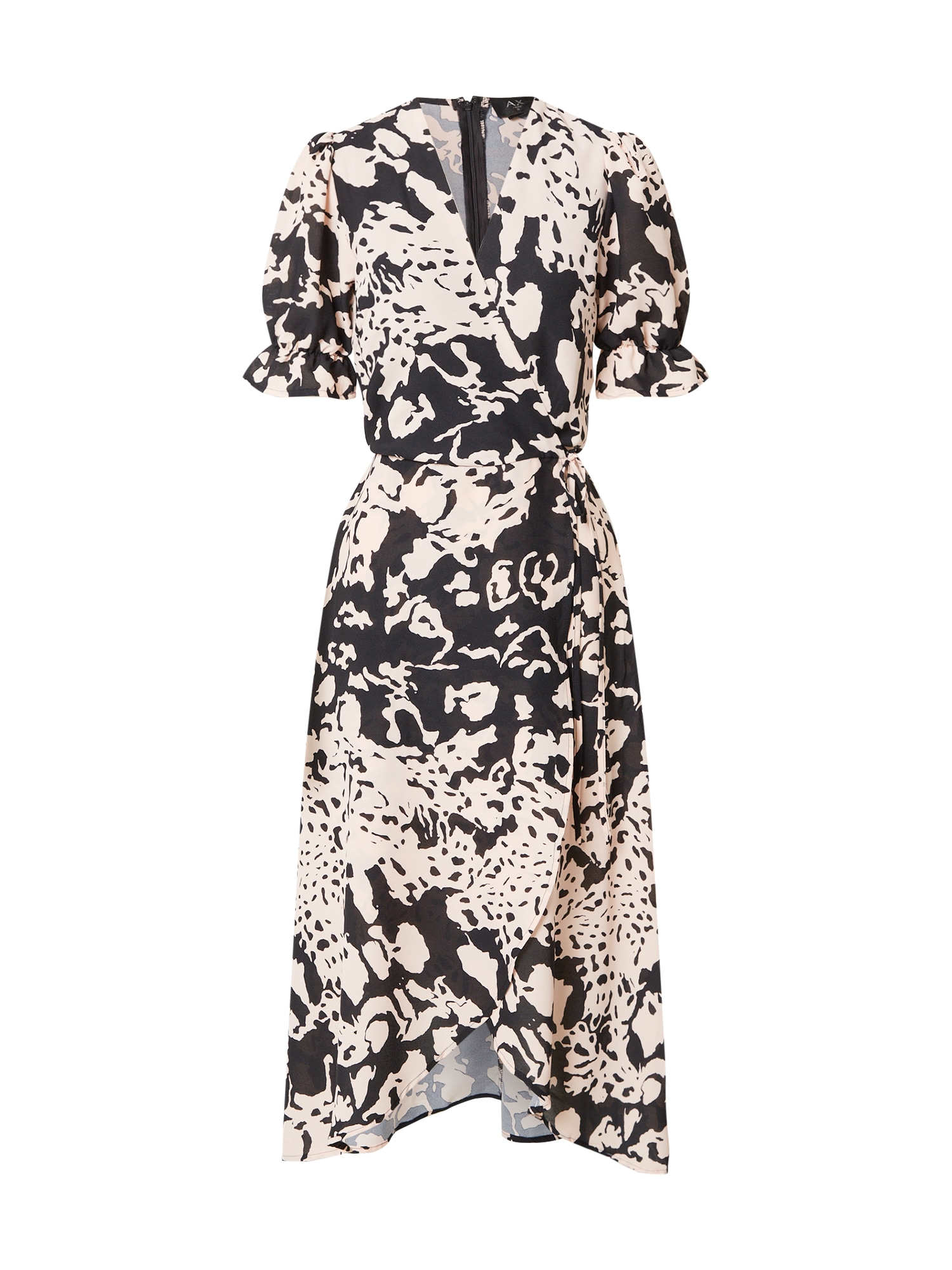 AX Paris Suknelė juoda / kremo