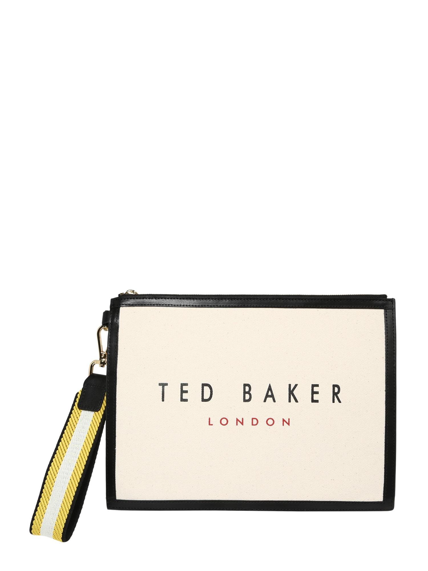 Ted Baker Delninė pastelinė geltona / juoda / tamsiai raudona