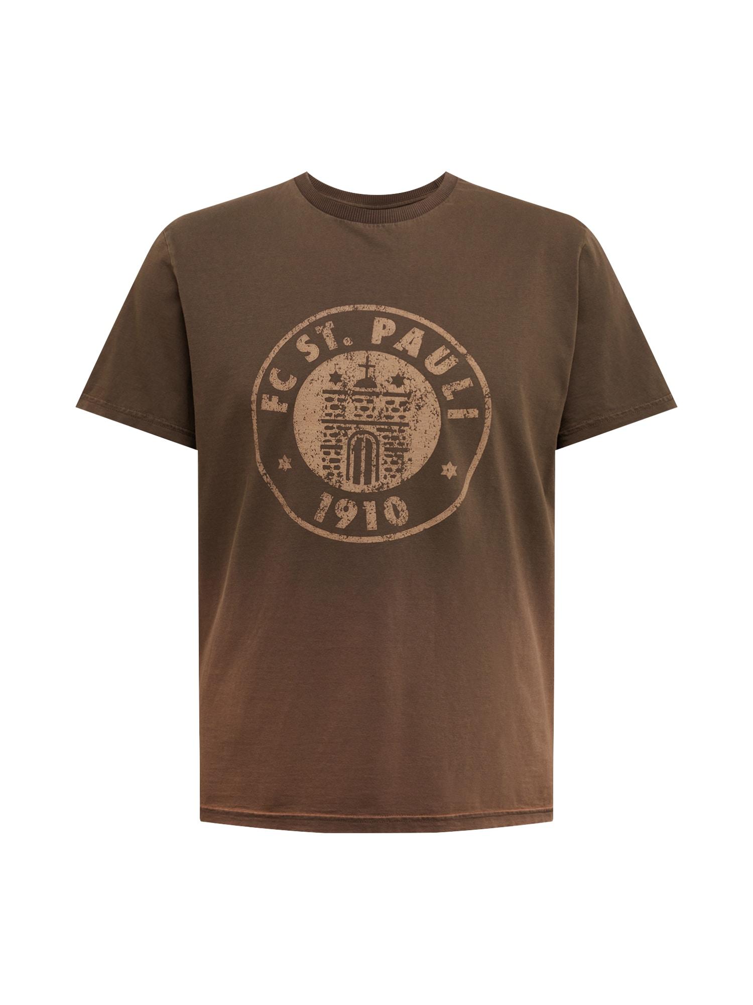 FC St. Pauli Marškinėliai ruda / juoda