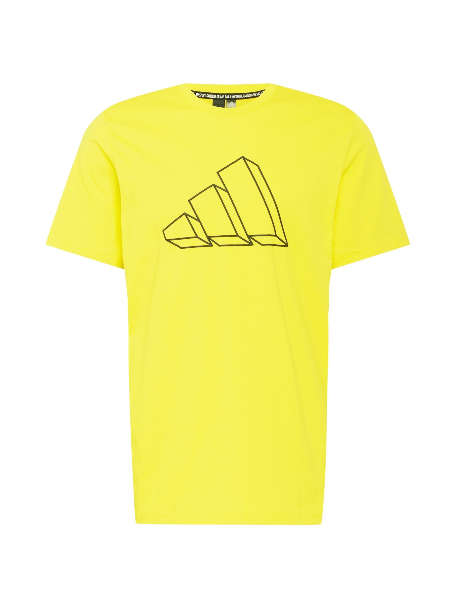 ADIDAS PERFORMANCE Funkční tričko  světle žlutá / černá