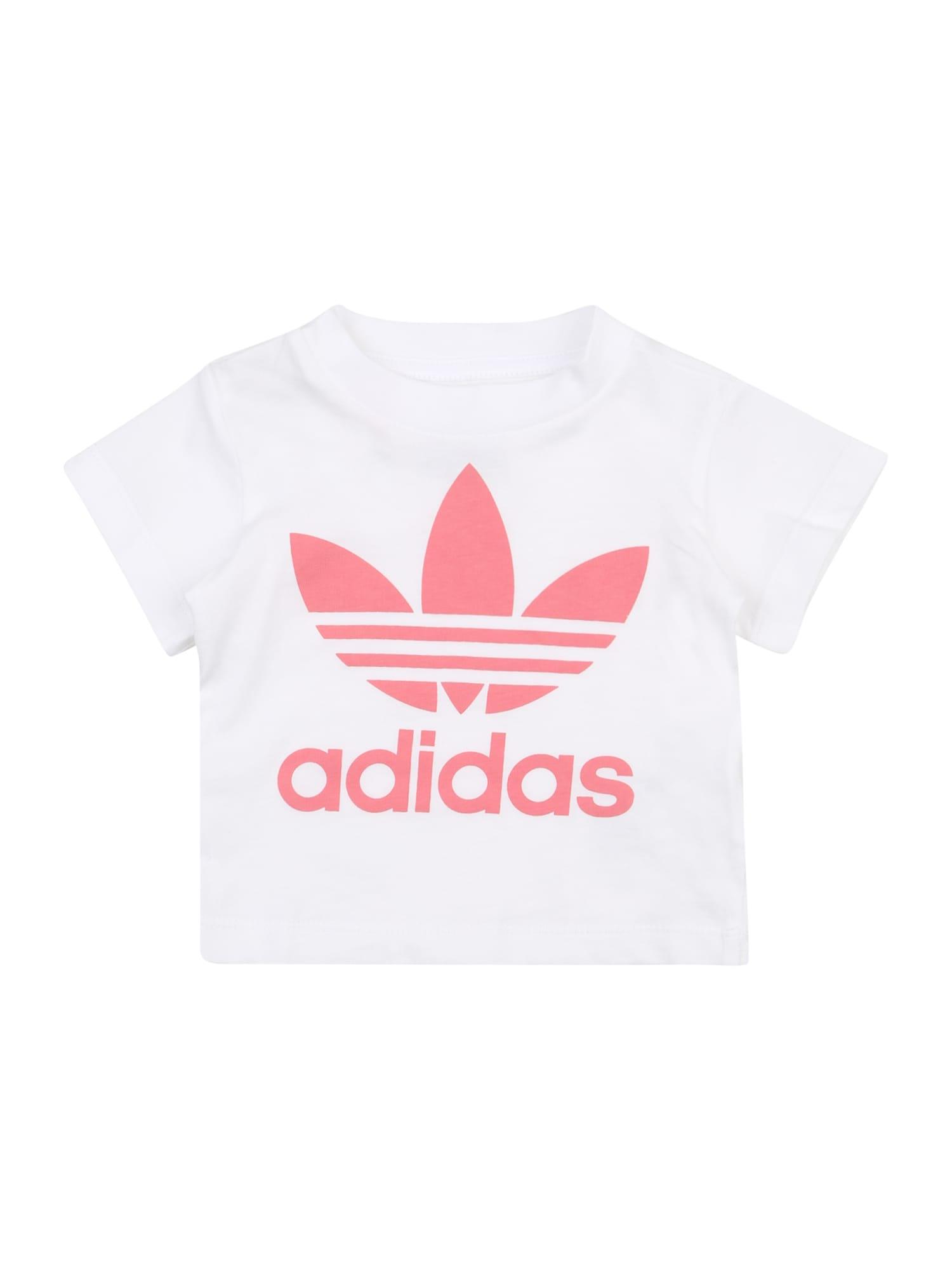ADIDAS ORIGINALS Marškinėliai rožinė / balta