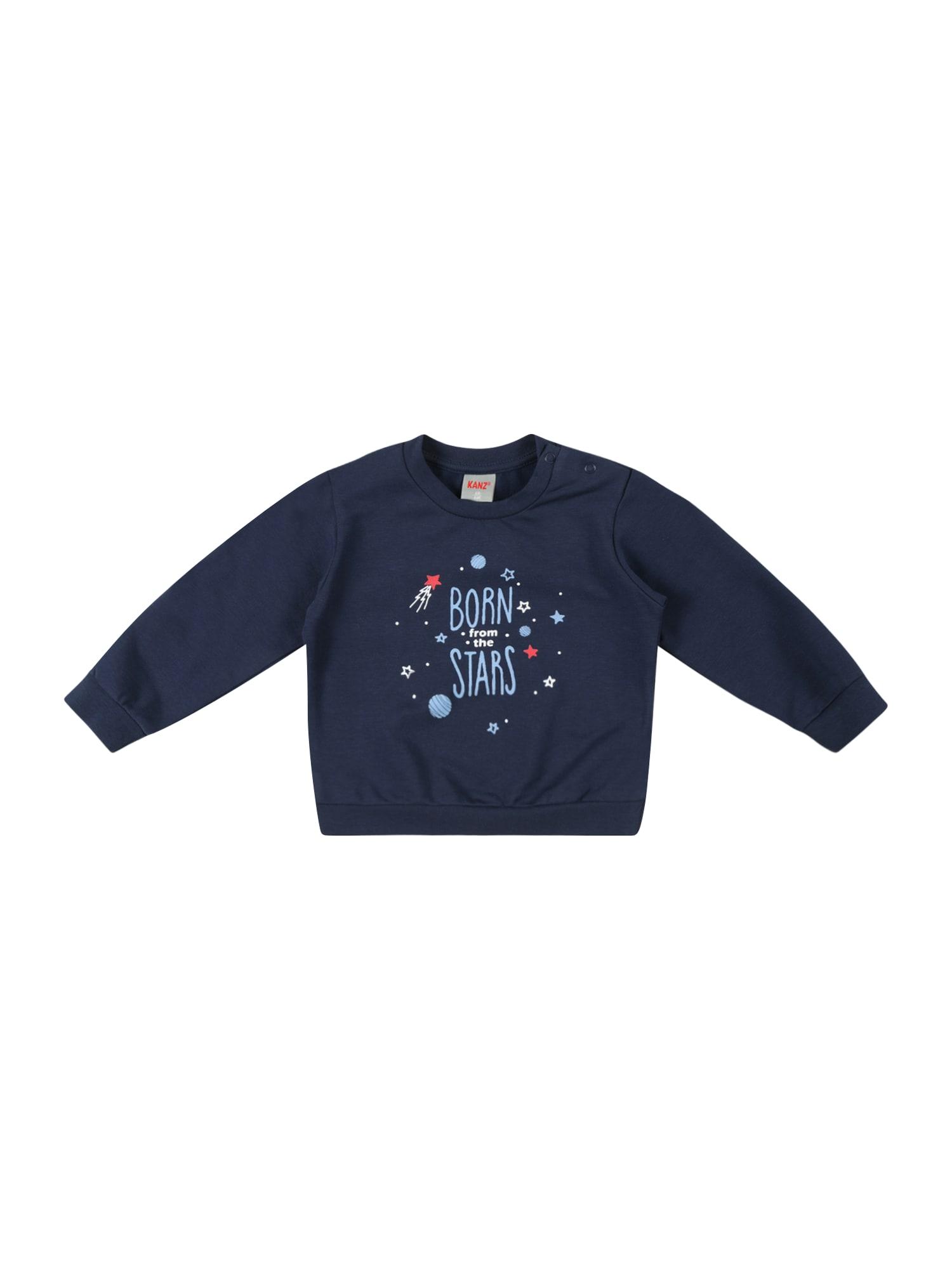 KANZ Megztinis be užsegimo tamsiai mėlyna / mėlyna dūmų spalva / balta / raudona
