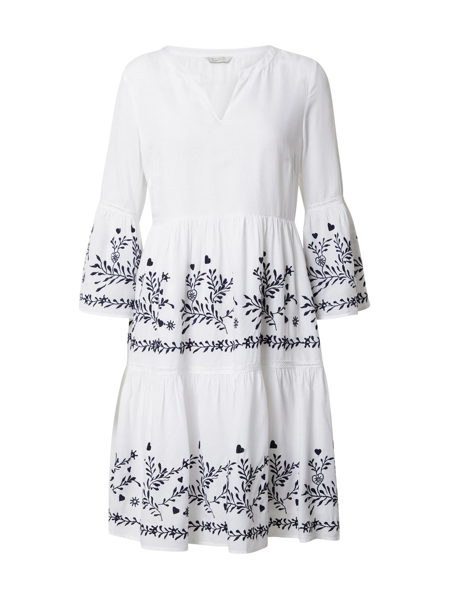Frogbox Suknelė balta / tamsiai mėlyna