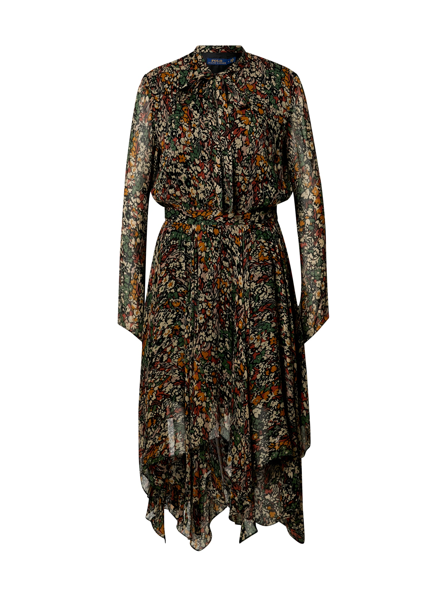 POLO RALPH LAUREN Šaty  hnědá / mix barev