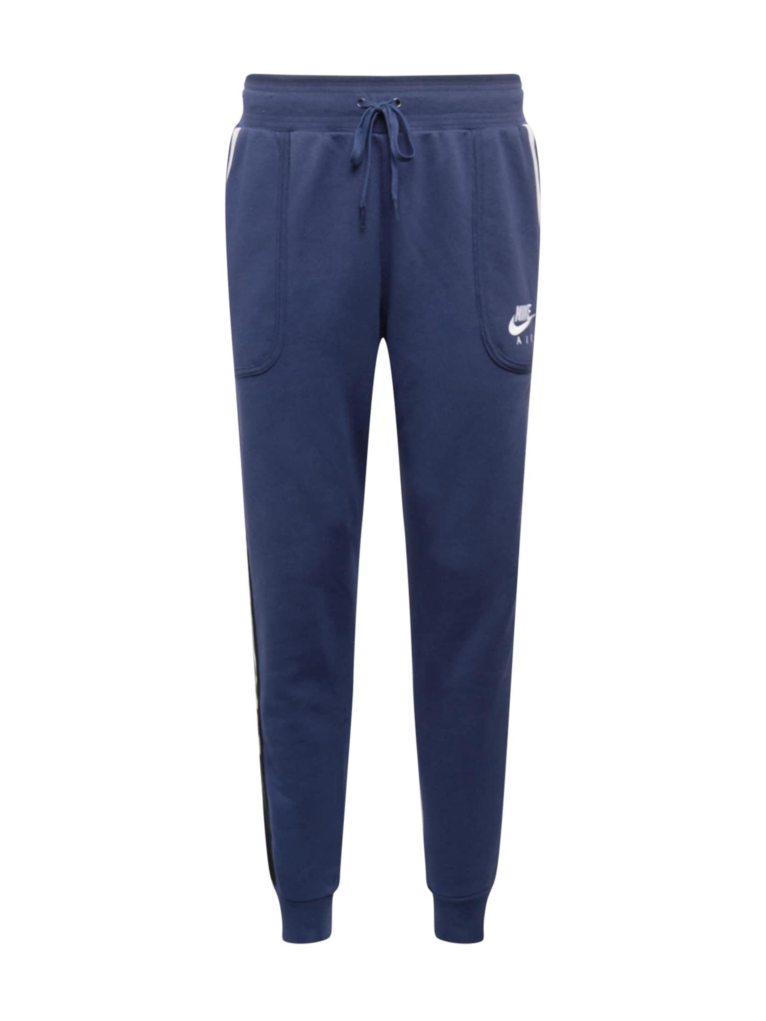 Nike Sportswear Kelnės tamsiai mėlyna / juoda / balta