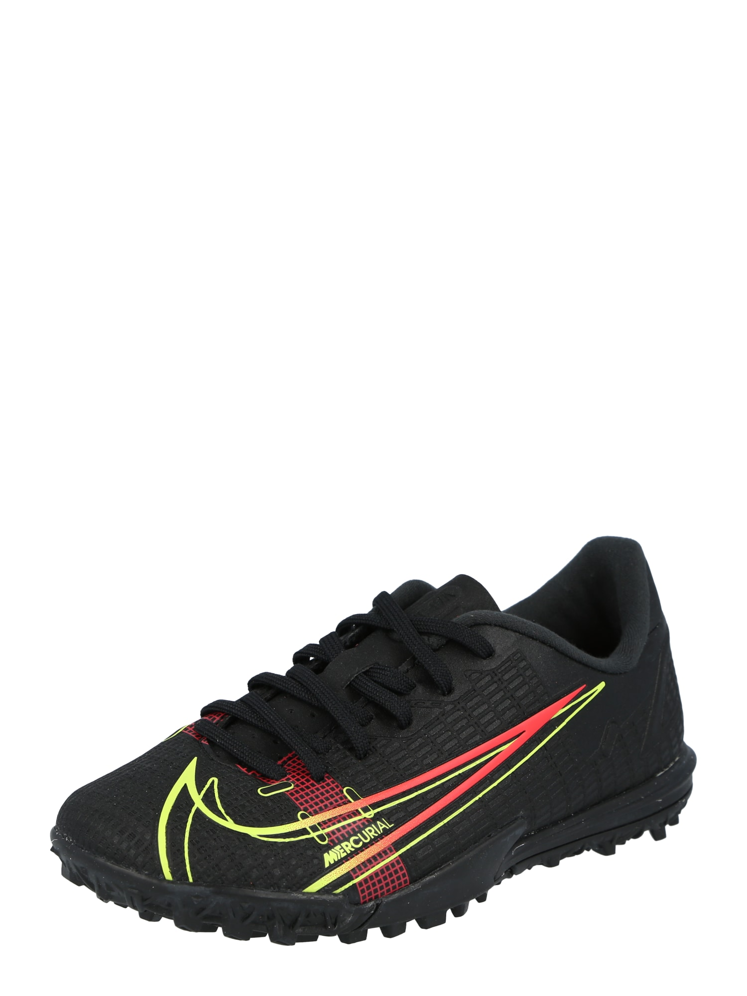 NIKE Sportiniai batai ' Vapor 14' juoda / oranžinė-raudona / geltonosios citrinos spalva