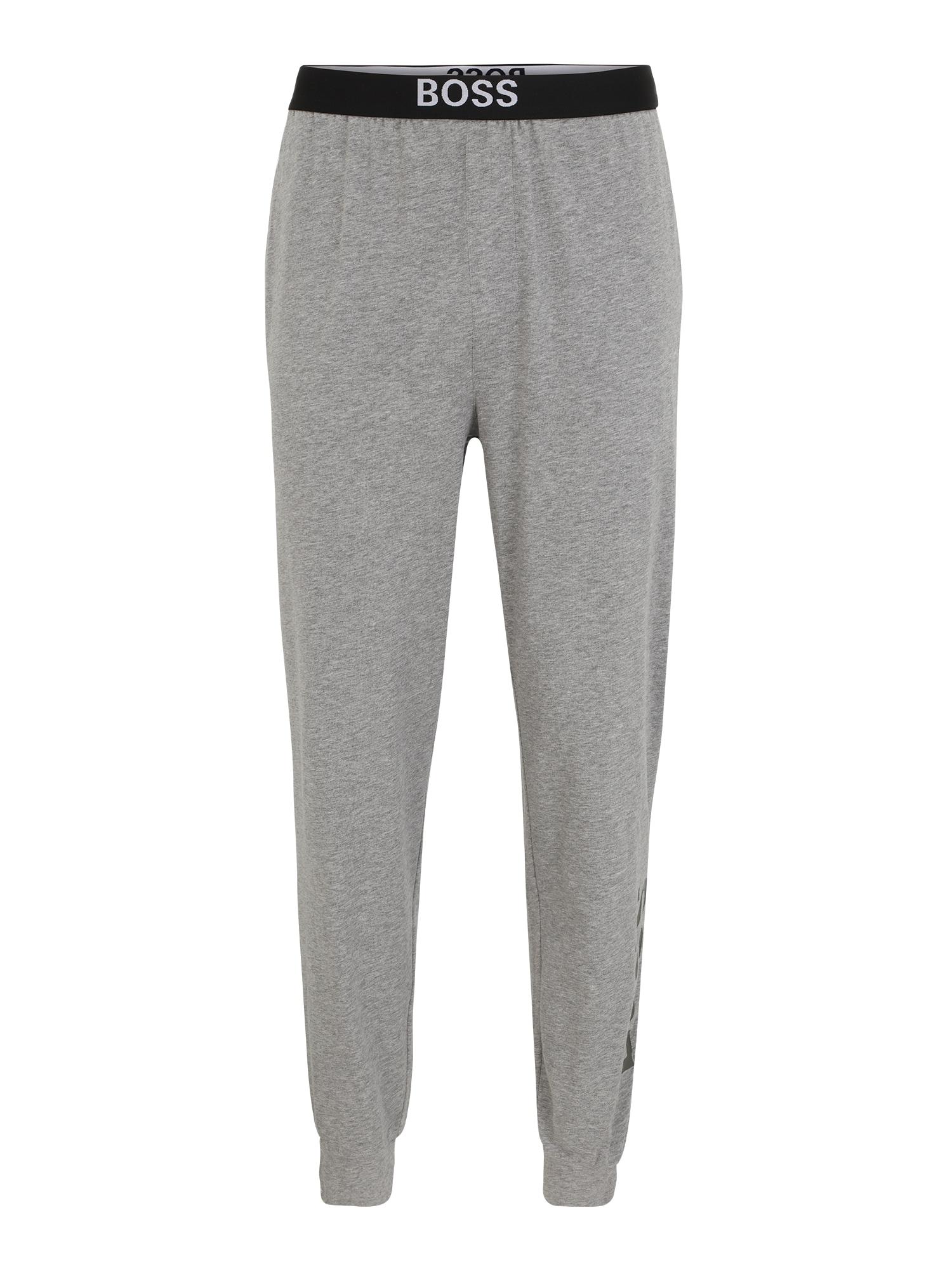 BOSS Casual Pyžamové nohavice 'Identity'  sivá melírovaná / čierna