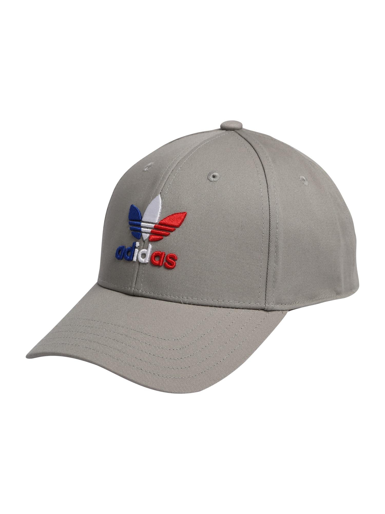 ADIDAS ORIGINALS Kepurė pilka / raudona / balta / mėlyna