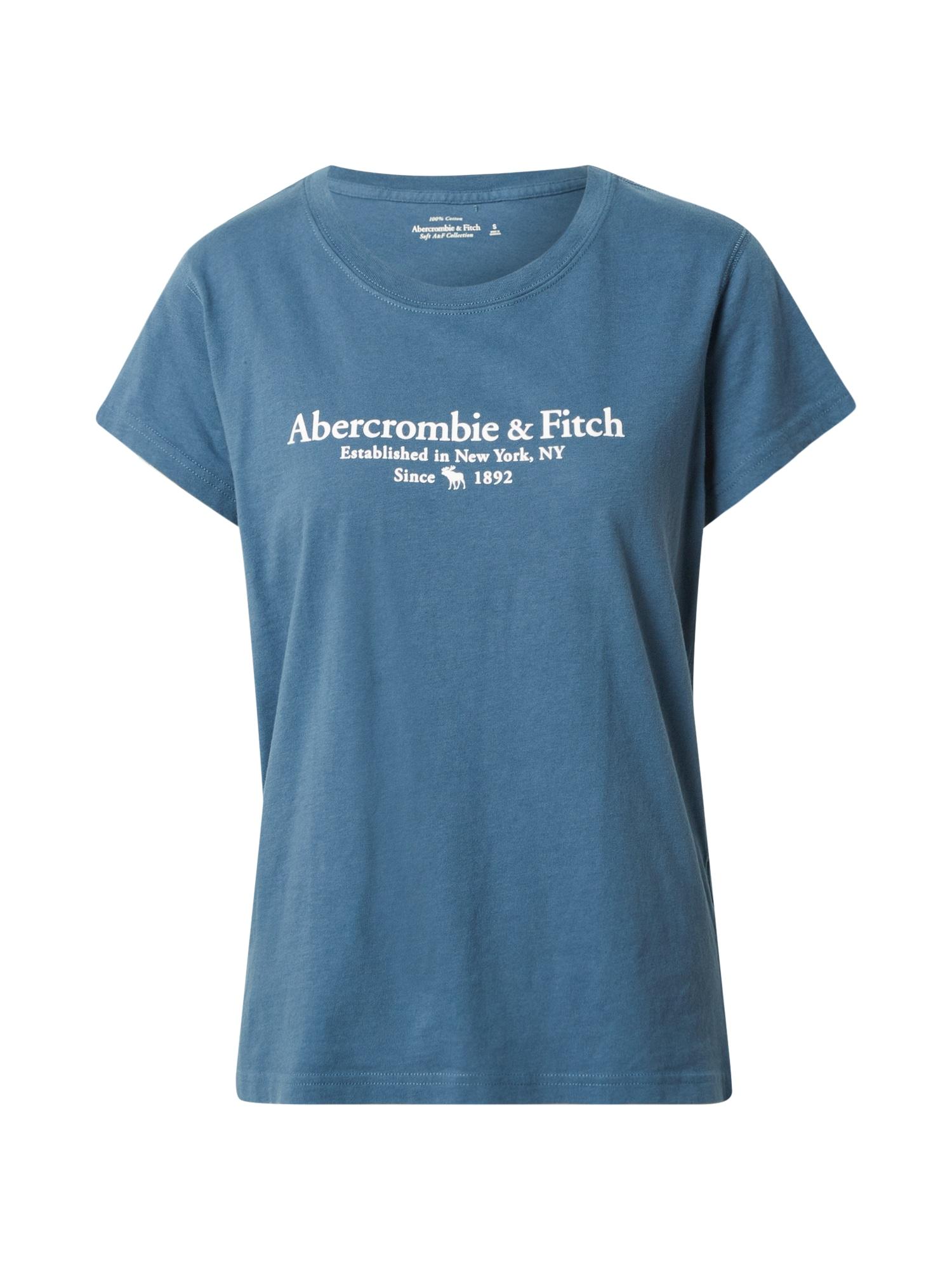 Abercrombie & Fitch Marškinėliai benzino spalva / balta