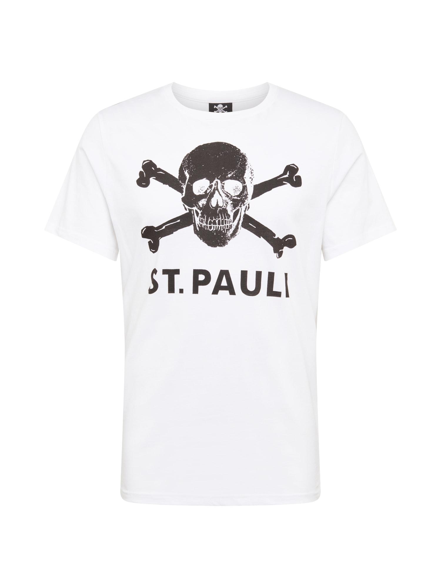FC St. Pauli Marškinėliai balta / juoda