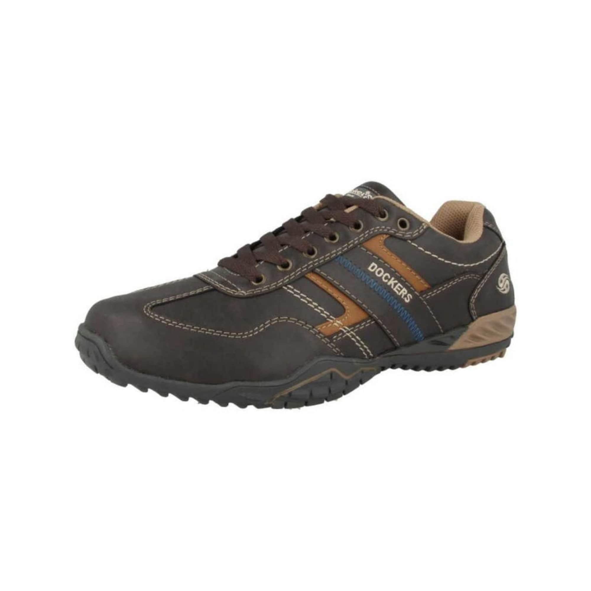 Dockers by Gerli Sportinio stiliaus batai su raišteliais pilka / ruda / smėlio