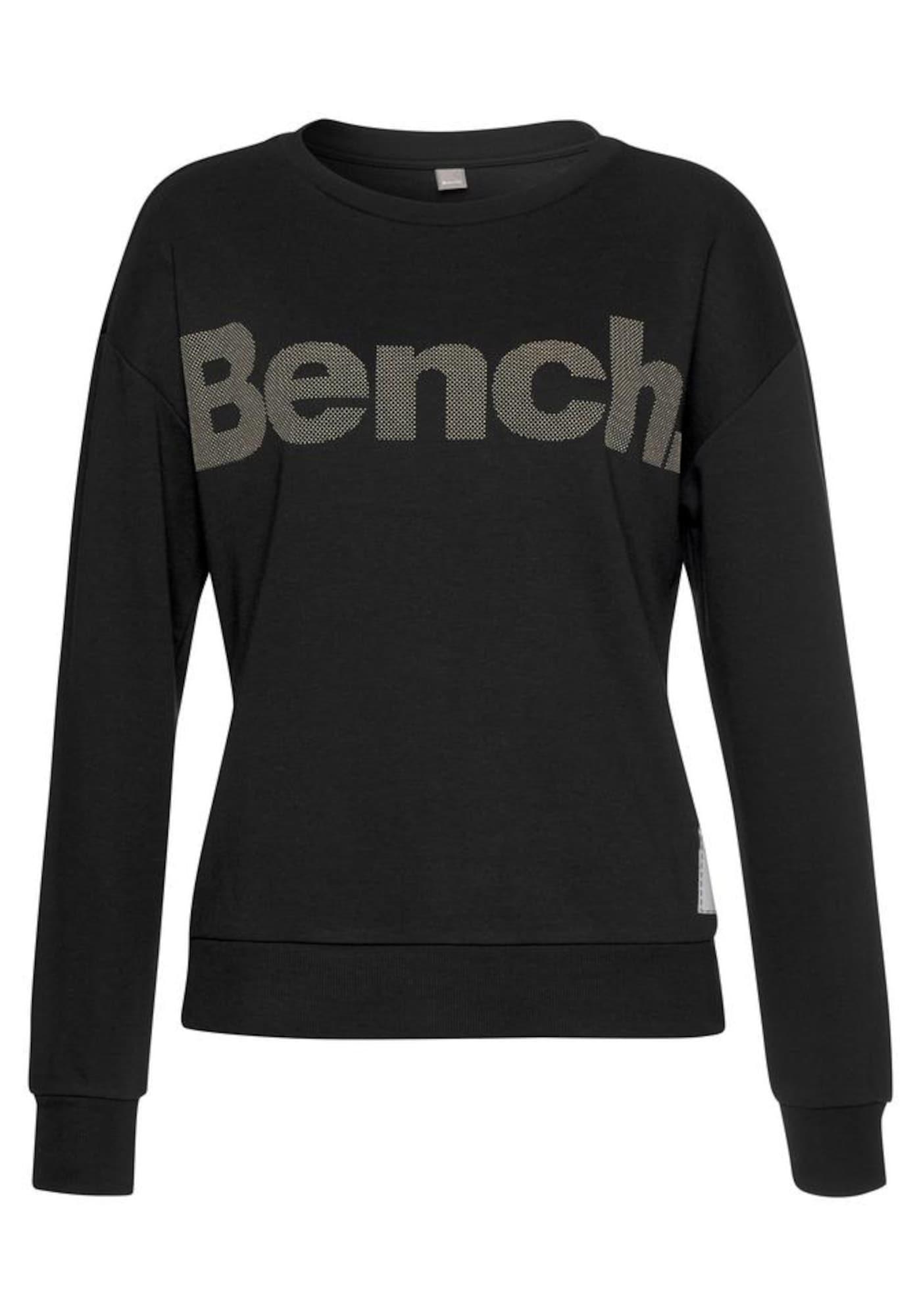 BENCH Megztinis be užsegimo rausvai pilka / juoda