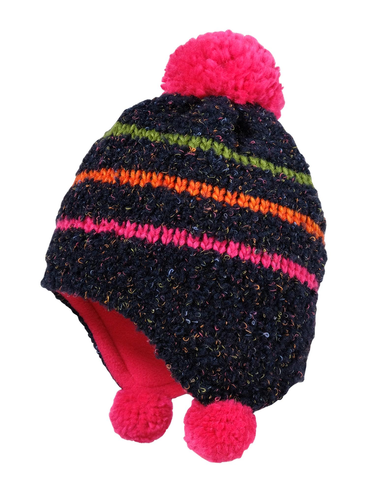 MAXIMO Megzta kepurė tamsiai mėlyna jūros spalva / alyvuogių spalva / oranžinė / fuksijų spalva