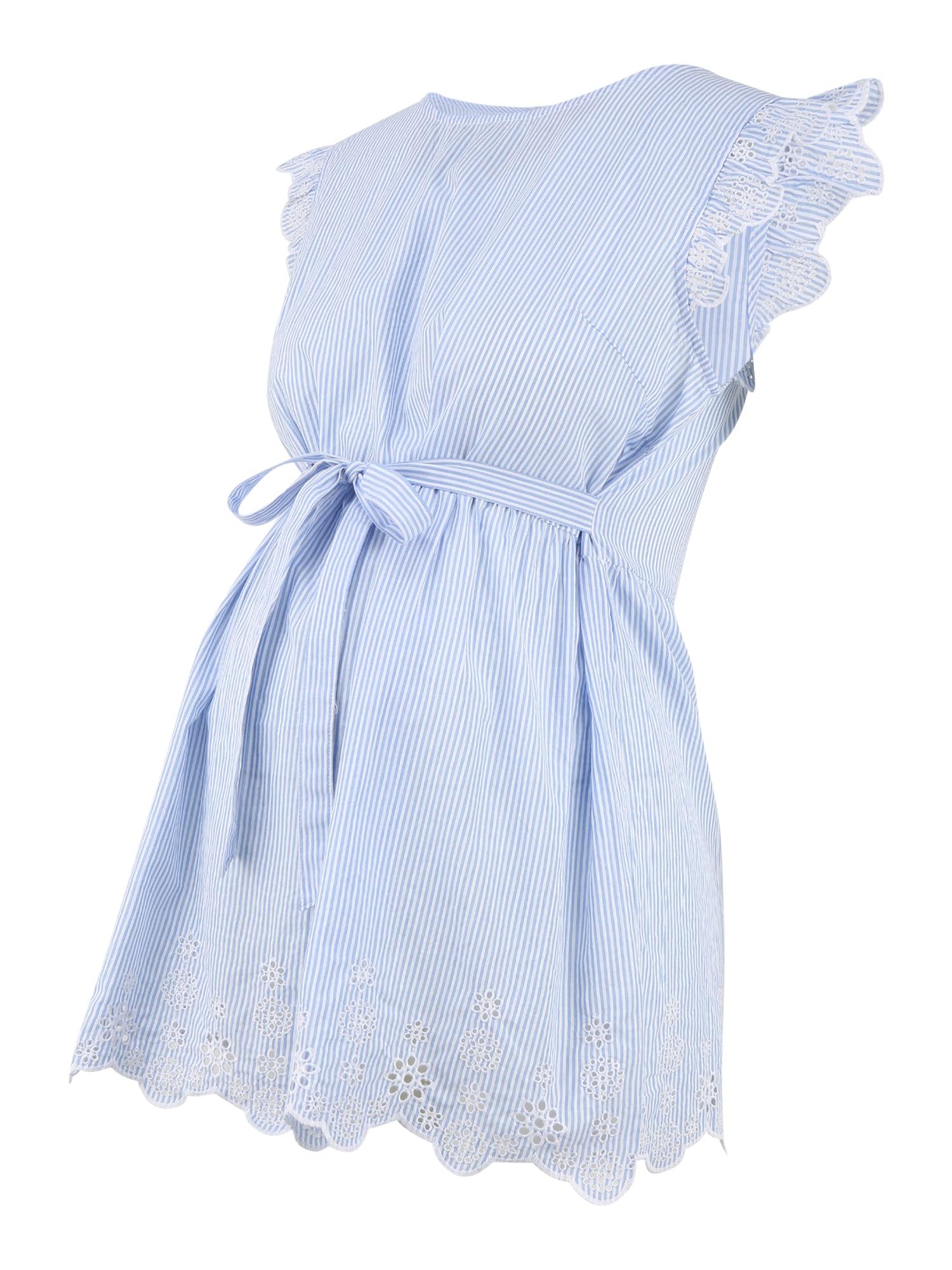 JoJo Maman Bébé Palaidinė šviesiai mėlyna / balta