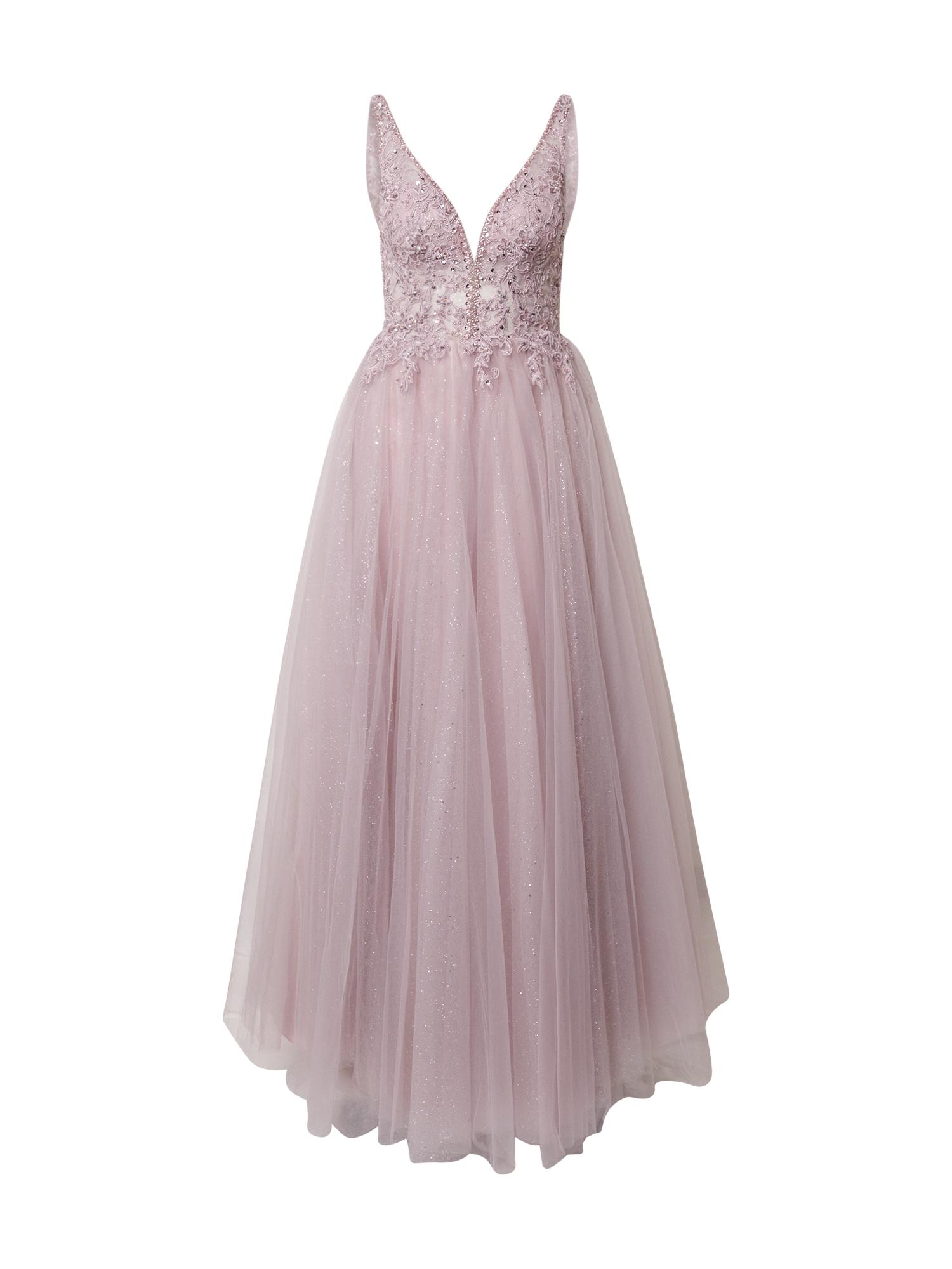 mascara Vakarinė suknelė rausvai violetinė spalva