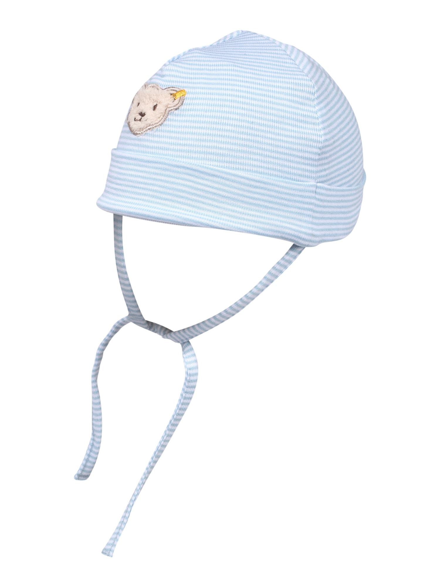 Steiff Collection Megzta kepurė šviesiai mėlyna / balta / šviesiai ruda