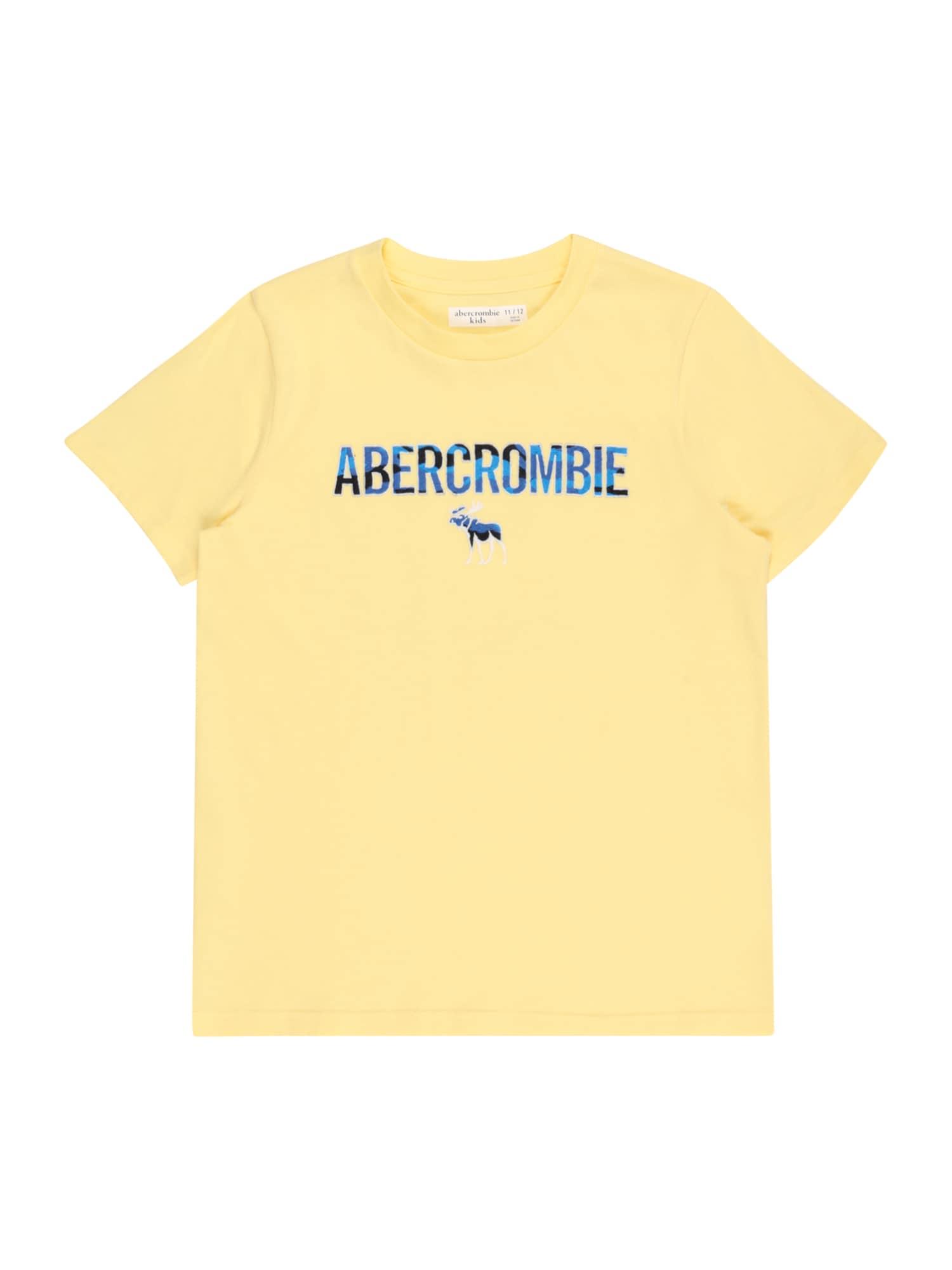 Abercrombie & Fitch Marškinėliai geltona / mėlyna / šviesiai mėlyna / nakties mėlyna