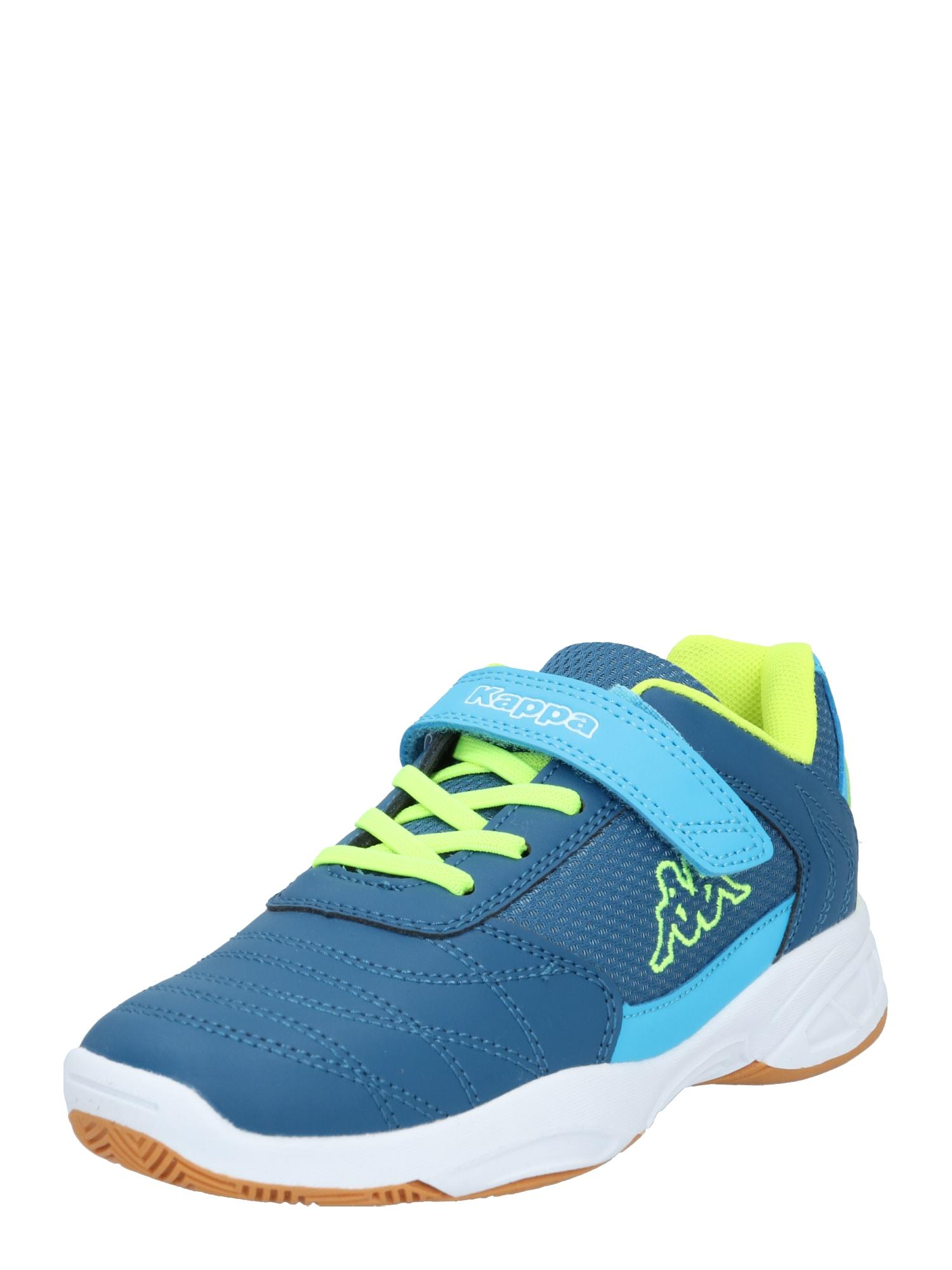 KAPPA Tenisky 'DROUM II'  modrá / svítivě žlutá / aqua modrá