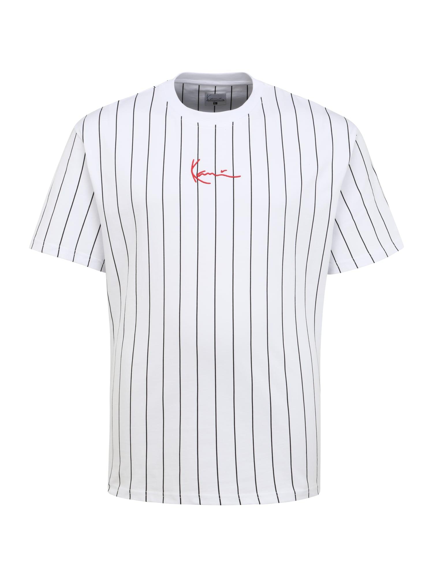 Karl Kani Marškinėliai balta / juoda / raudona