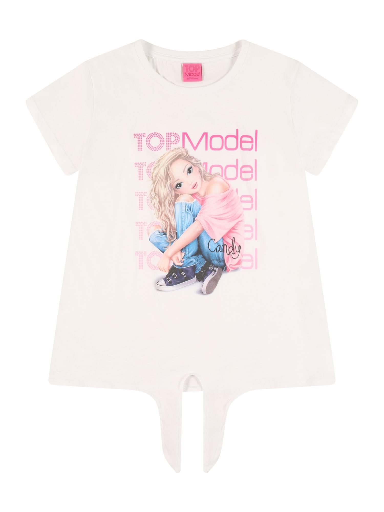 TOP MODEL Marškinėliai balta / mišrios spalvos