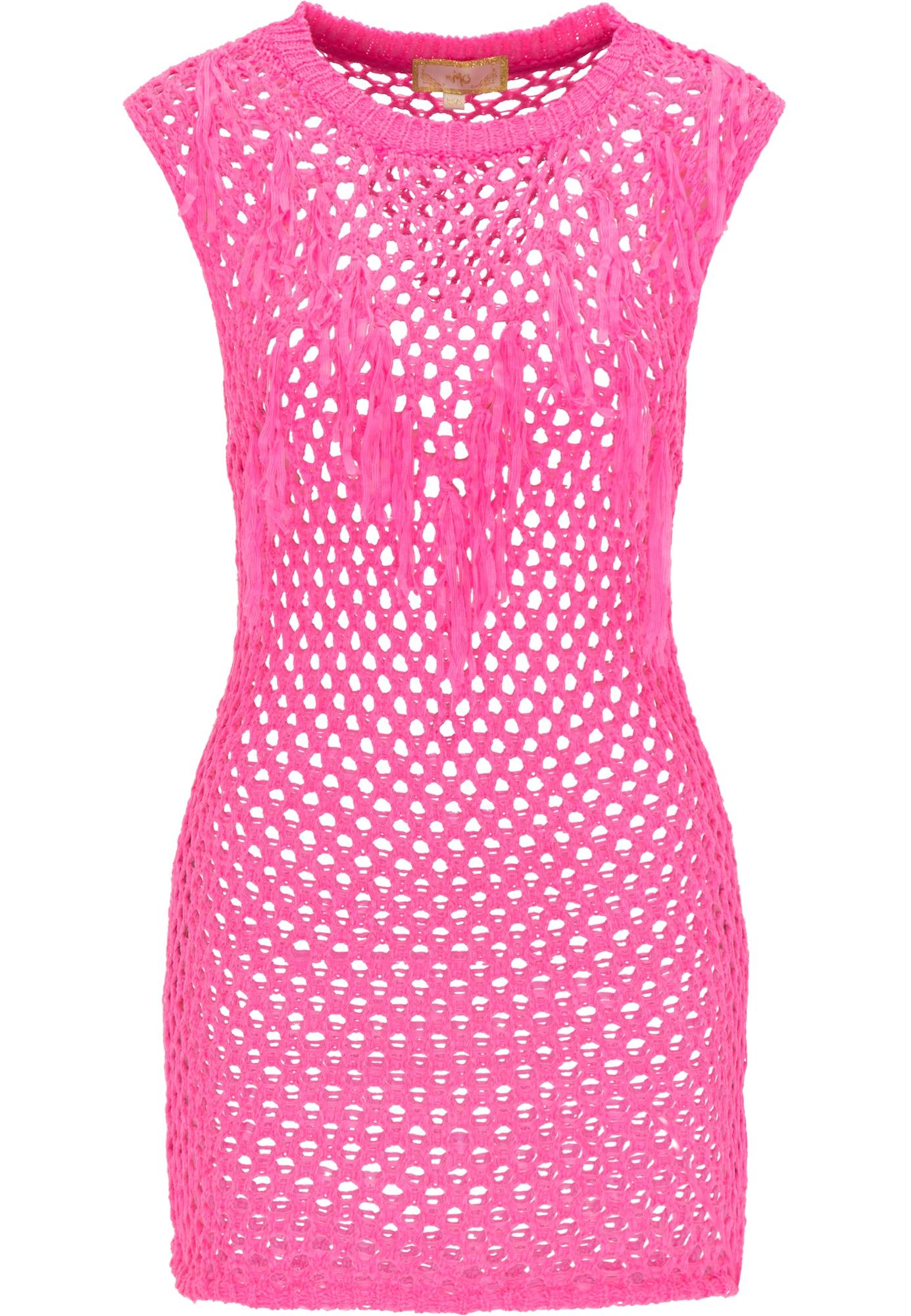 MYMO Paplūdimio suknelė neoninė rožinė
