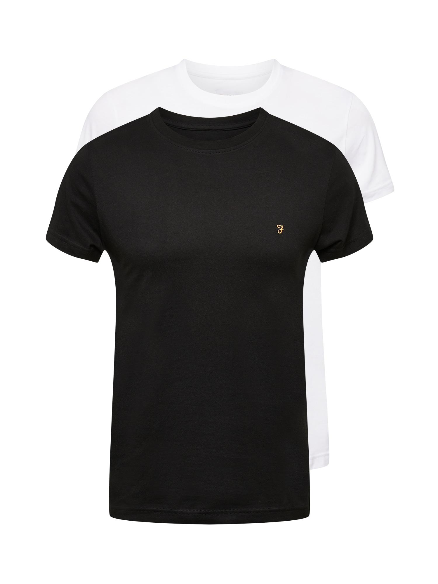 FARAH Marškinėliai balta / juoda