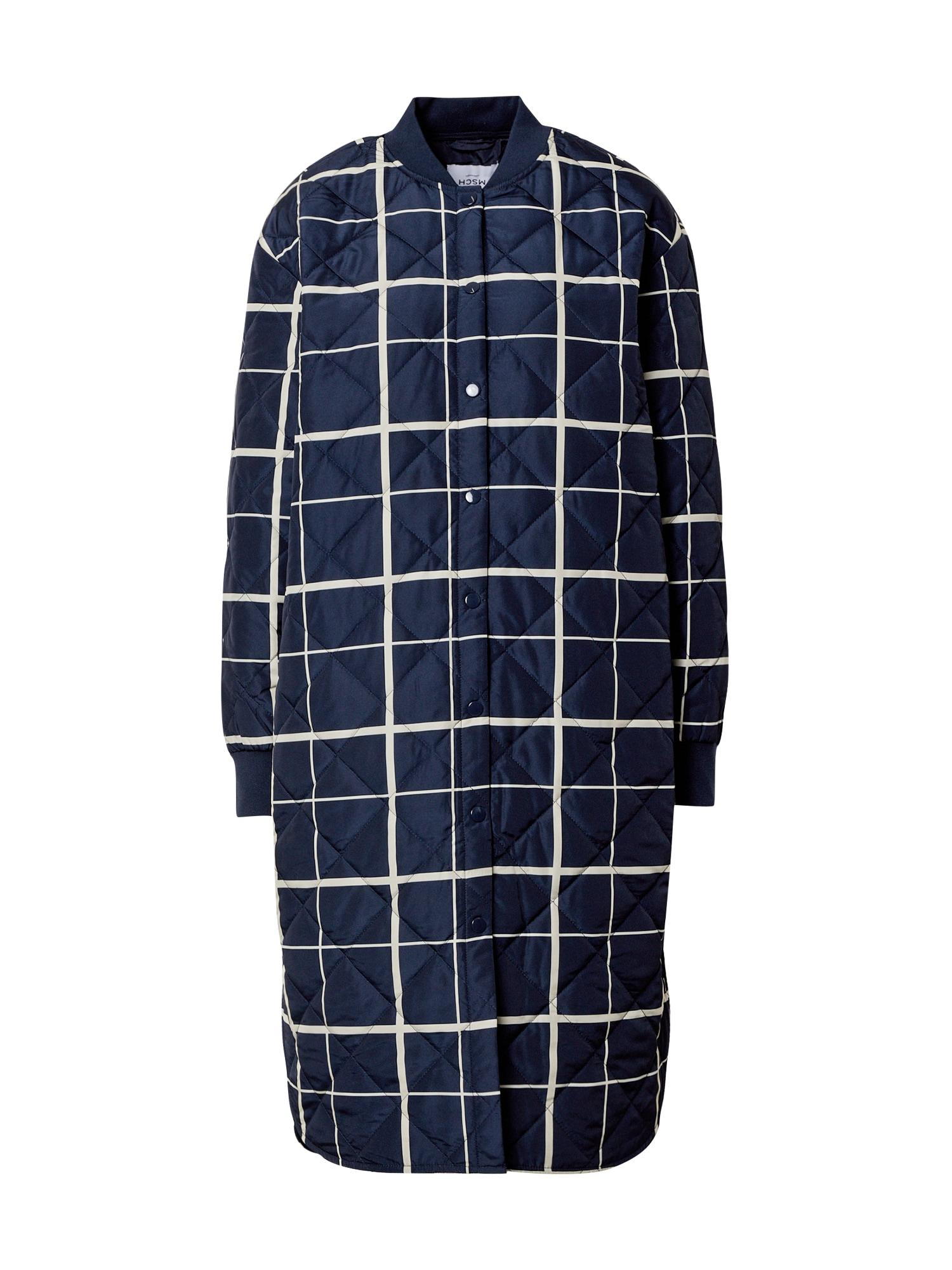 MOSS COPENHAGEN Demisezoninis paltas tamsiai mėlyna / balta