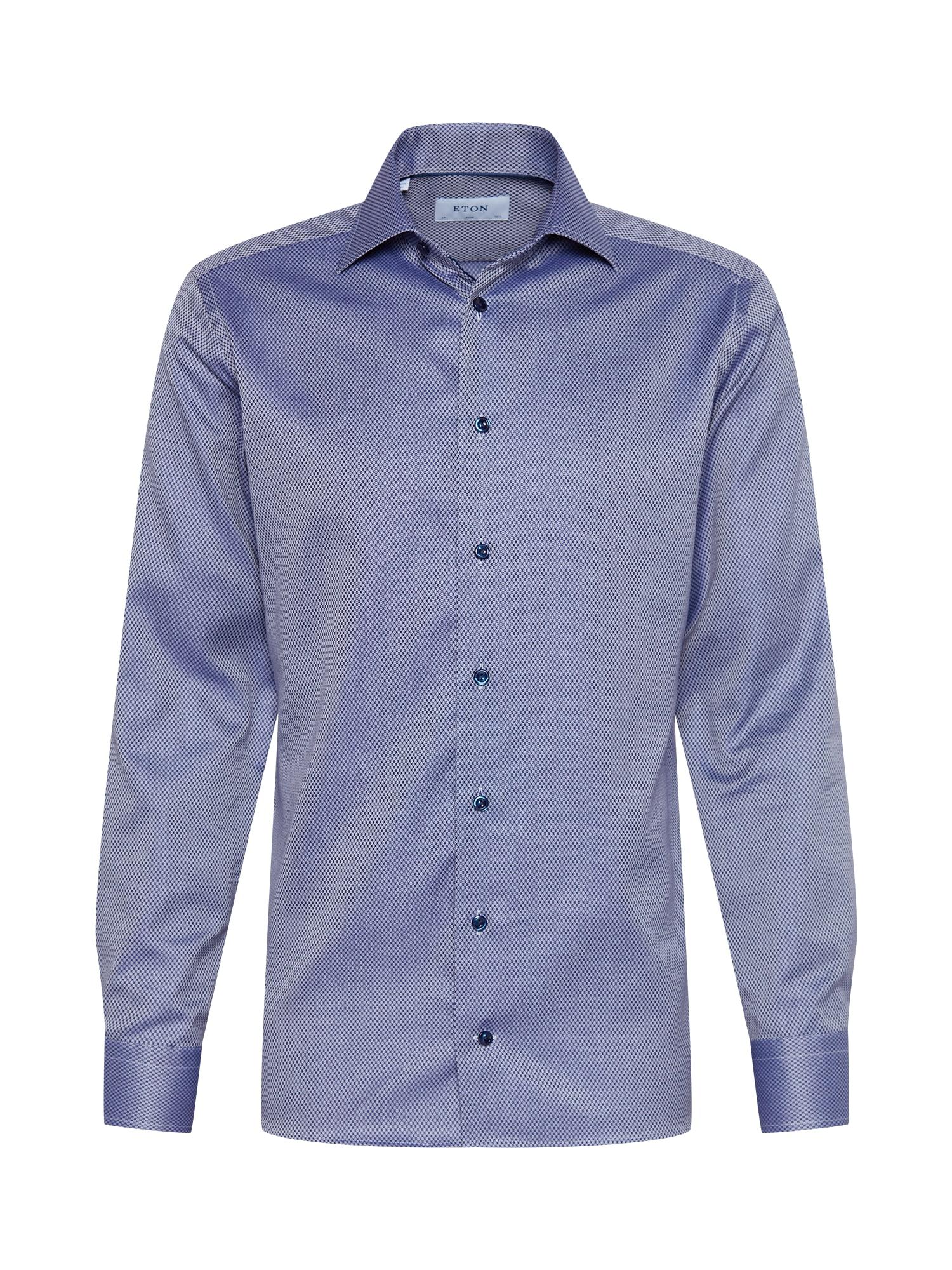 ETON Marškiniai tamsiai mėlyna / mėlyna dūmų spalva
