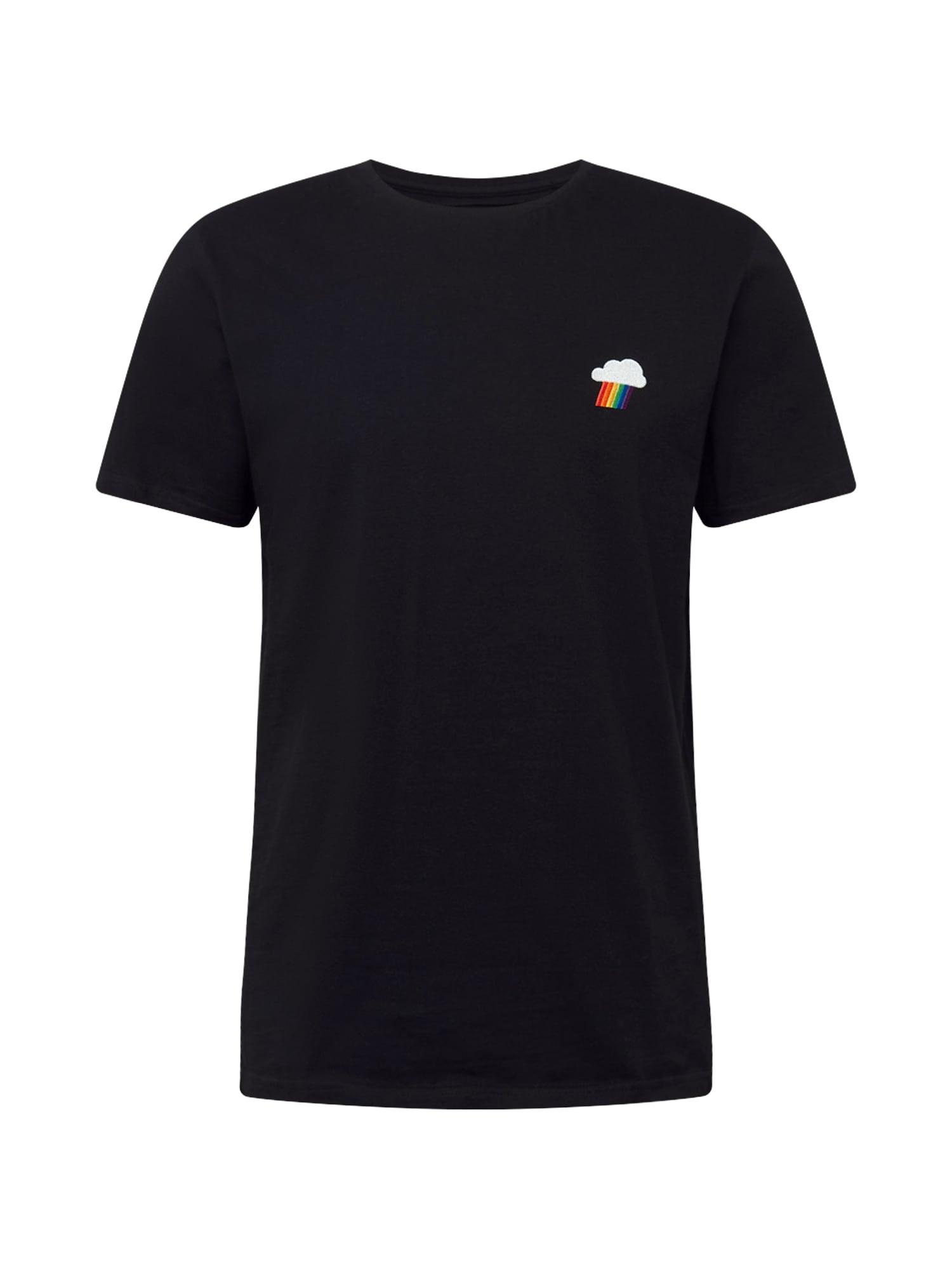 DEDICATED. Marškinėliai 'Stockholm' juoda / balta / mišrios spalvos