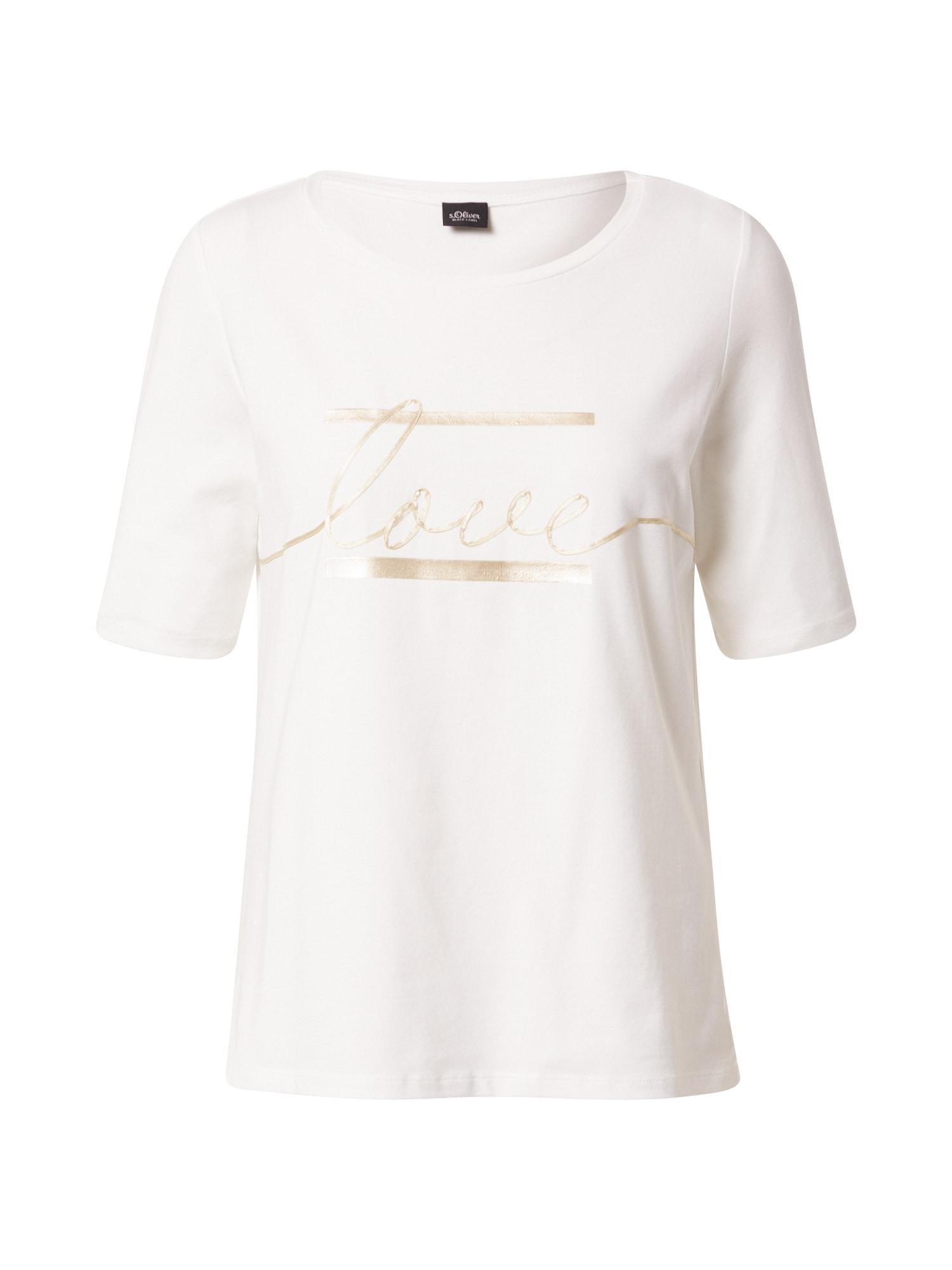 s.Oliver BLACK LABEL Marškinėliai auksas / balta