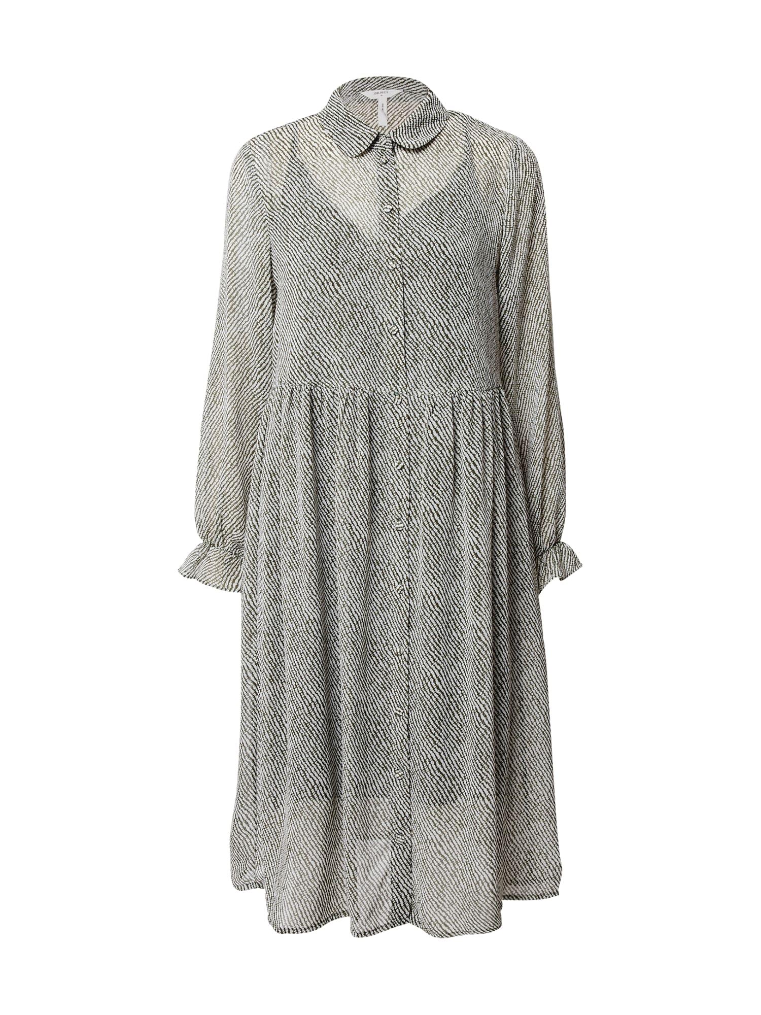 OBJECT Košilové šaty 'Mie'  bílá / černá