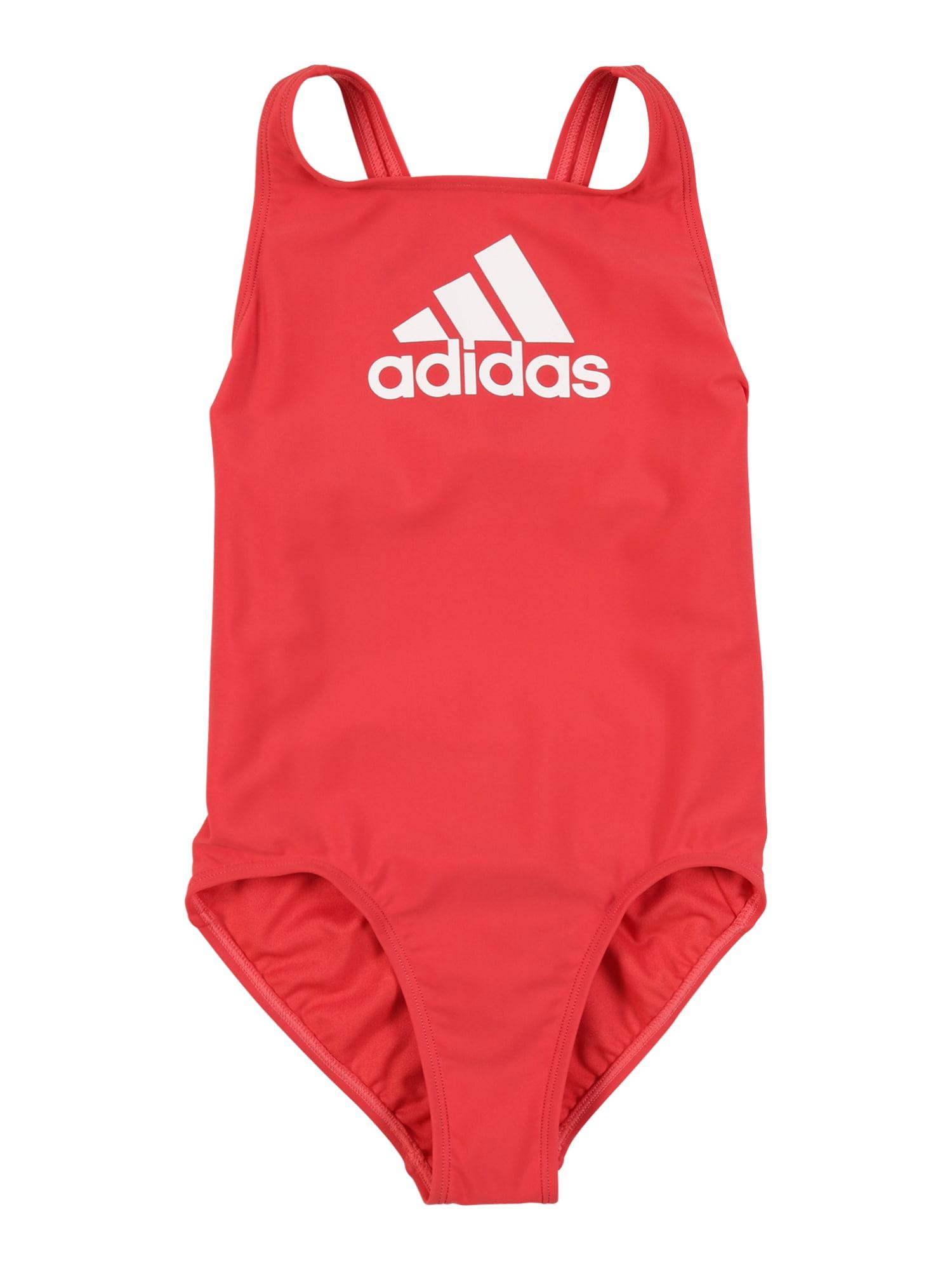 ADIDAS PERFORMANCE Sportinis maudymosi kostiumėlis šviesiai raudona