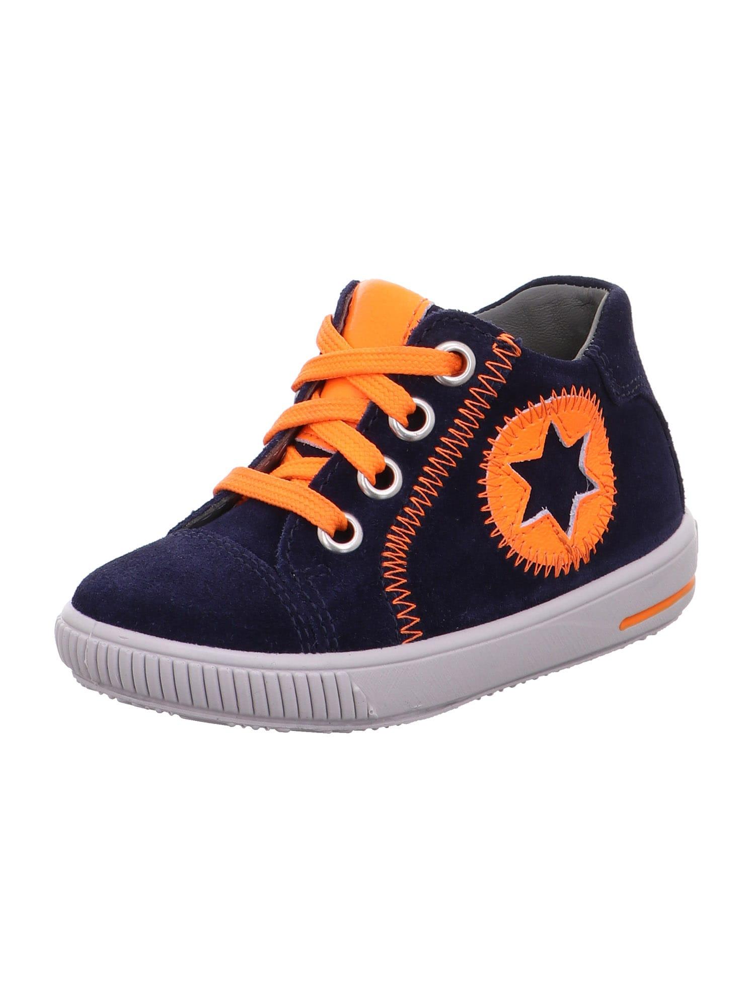 SUPERFIT Pirmieji vaiko vaikščiojimo bateliai 'MOPPY' oranžinė / mėlyna