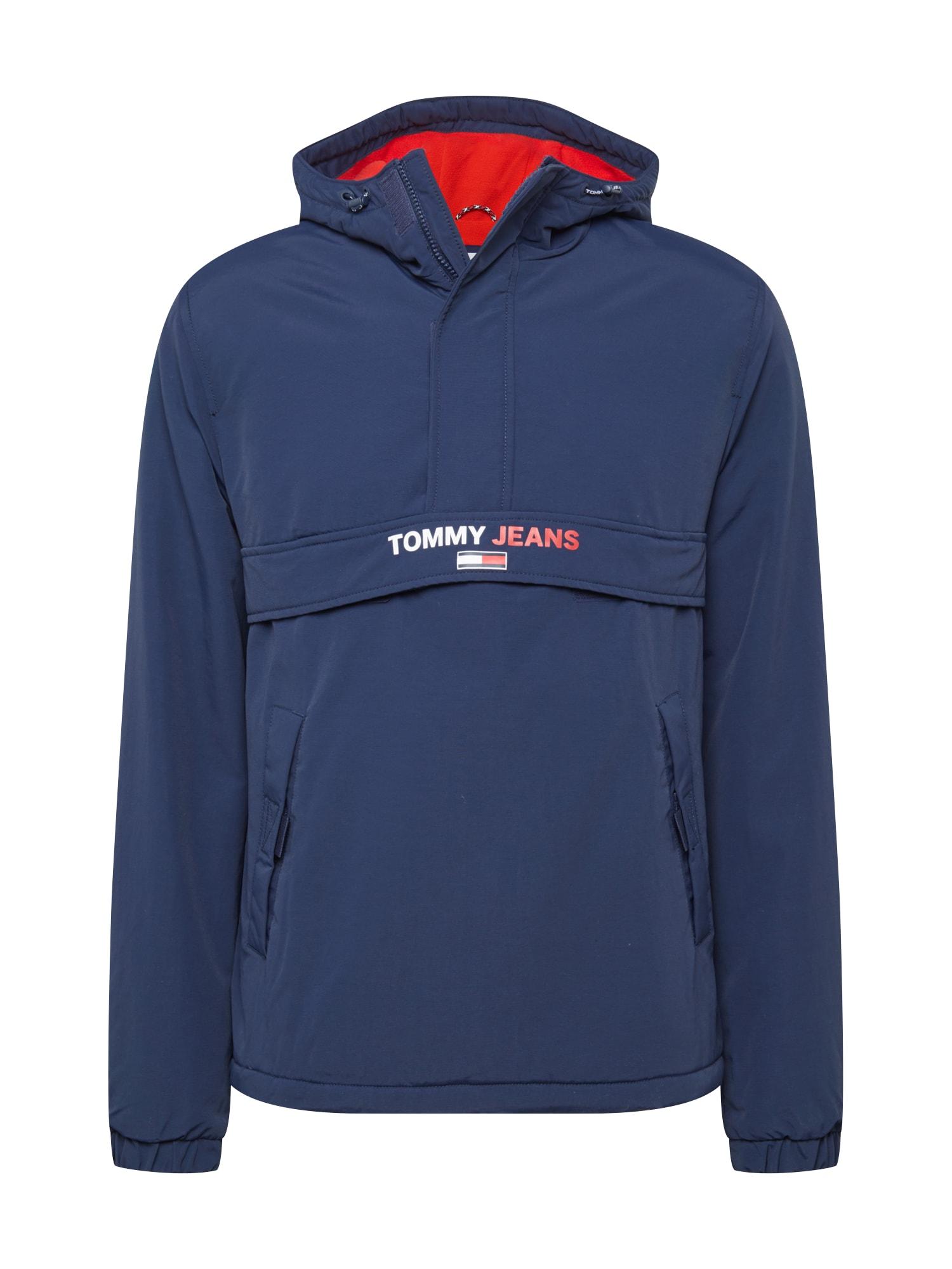 Tommy Jeans Přechodná bunda  námořnická modř / bílá / melounová