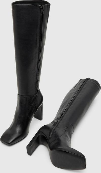 - Quadratische Schuhspitze - Nahtdetails - Wadenlänge - Stilettoabsatz - Absatzhöhe: 7,5 cm