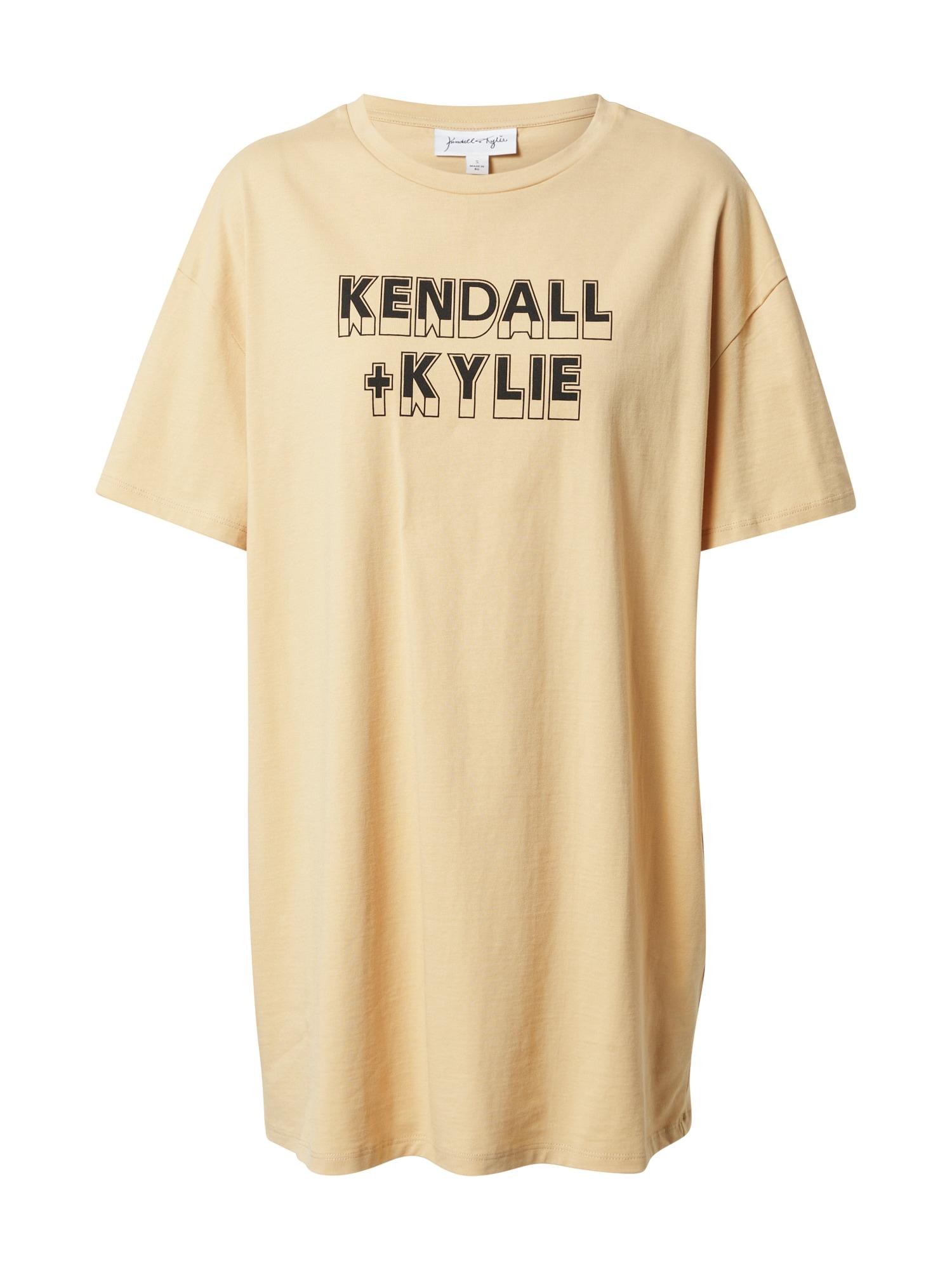 KENDALL + KYLIE Tričko  béžová / čierna