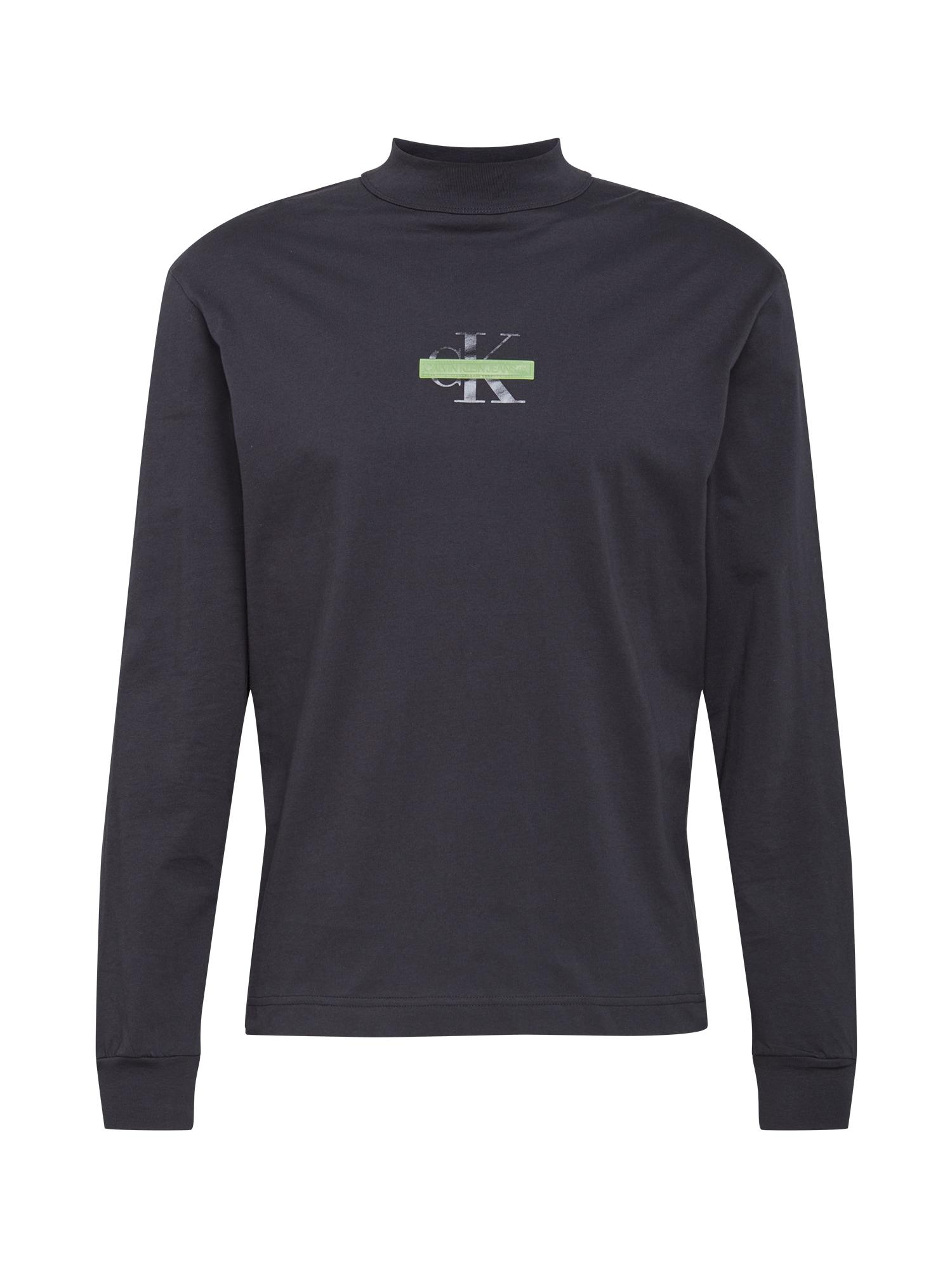 Calvin Klein Jeans Marškinėliai juoda / pilka