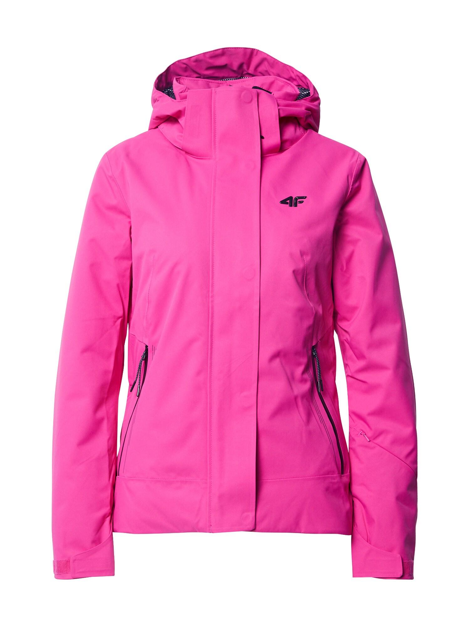 4F Outdoorová bunda  tmavě růžová