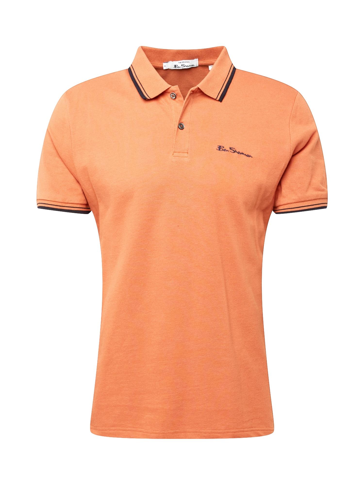 Ben Sherman Marškinėliai oranžinė / tamsiai mėlyna