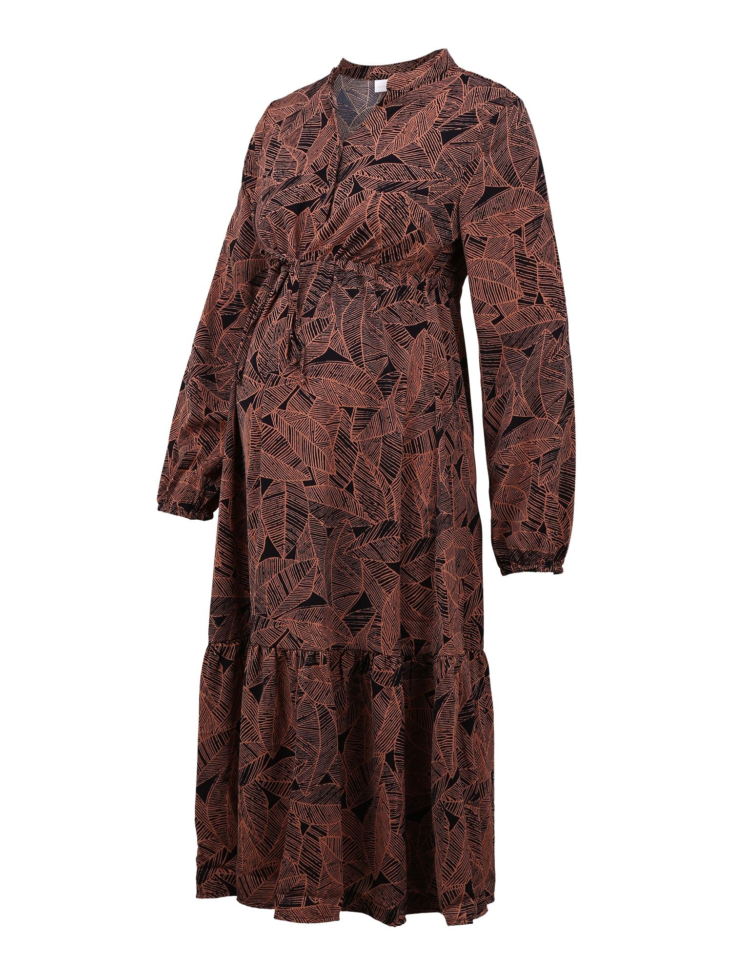MAMALICIOUS Suknelė ruda / juoda