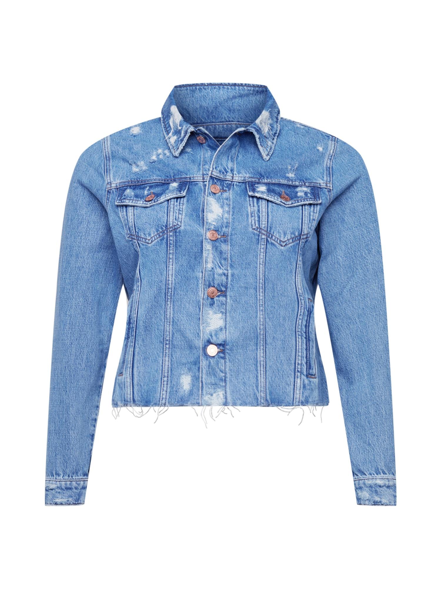 Tommy Jeans Curve Demisezoninė striukė tamsiai (džinso) mėlyna