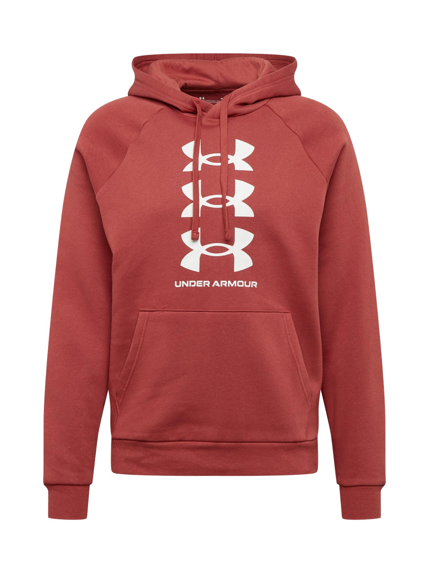 UNDER ARMOUR Sportinio tipo megztinis 'Rival' raudona / balta